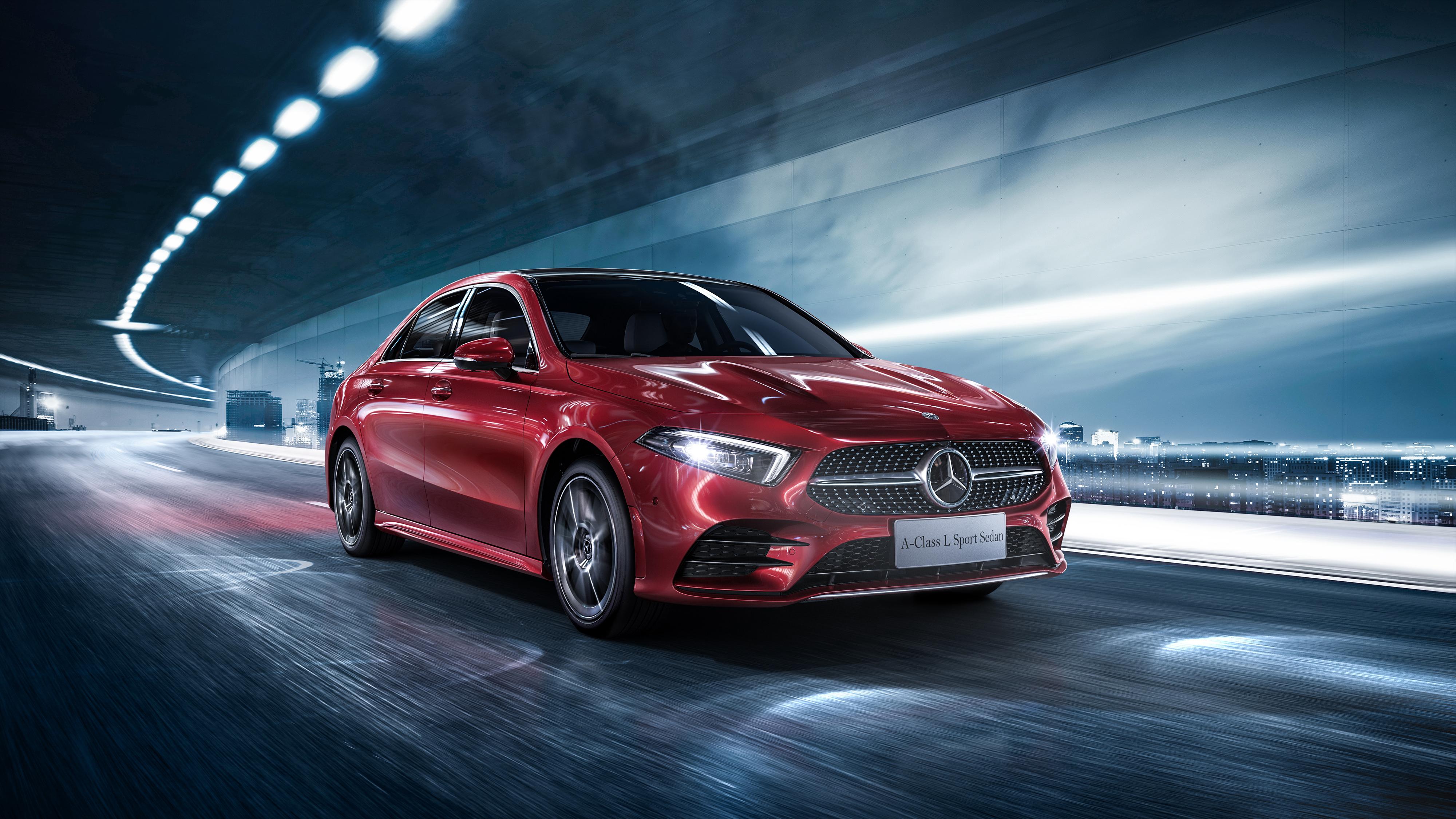 2019 mercedes benz a200 l sport sedan 4k 2 wallpaper hd for Mercedes benz sports sedan