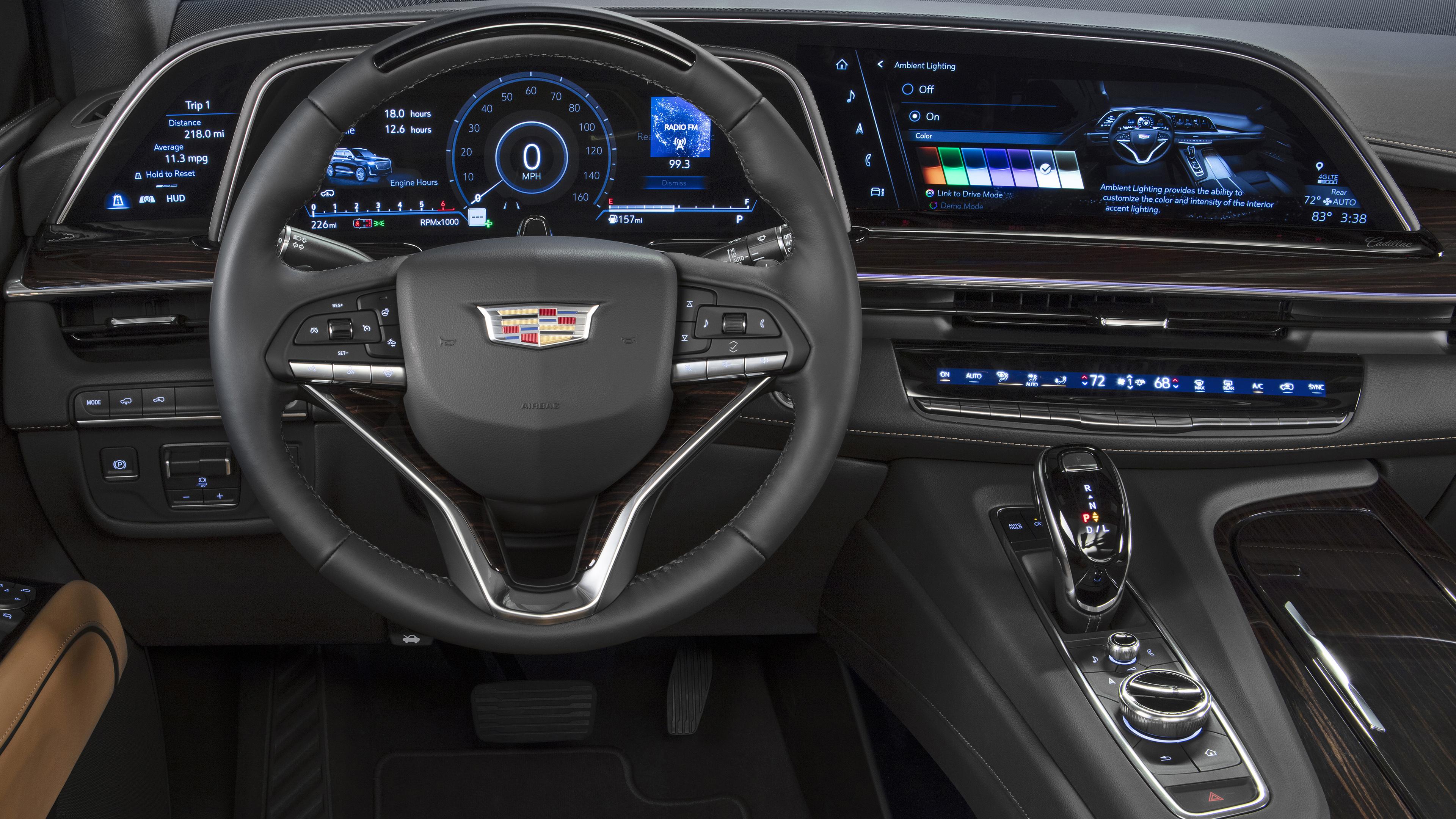 2021 cadillac escalade platinum luxury interior 4k