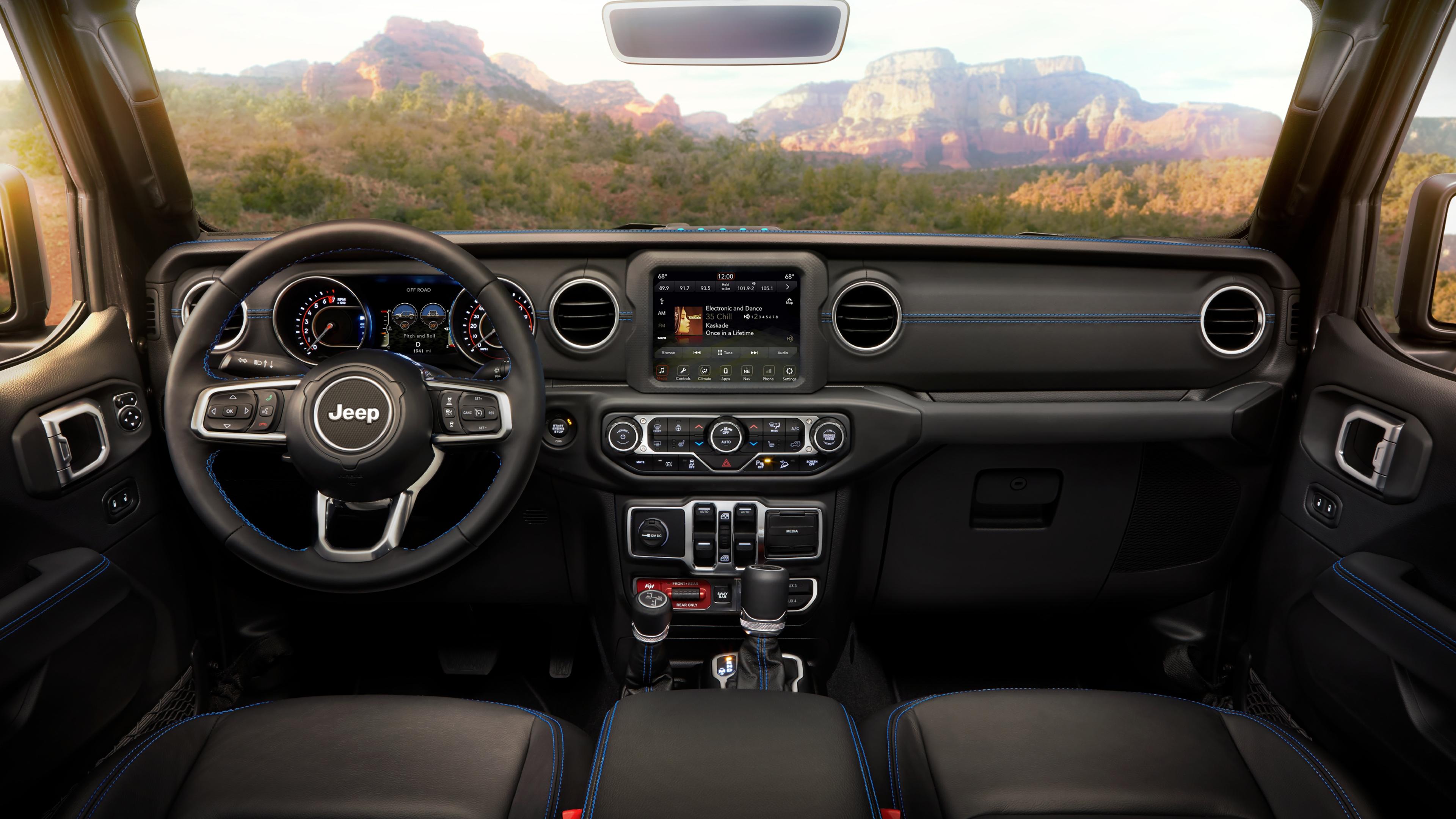 2021 jeep wrangler unlimited rubicon 4xe 4k interior wallpaper | hd car  wallpapers | id #15625  hd car wallpapers