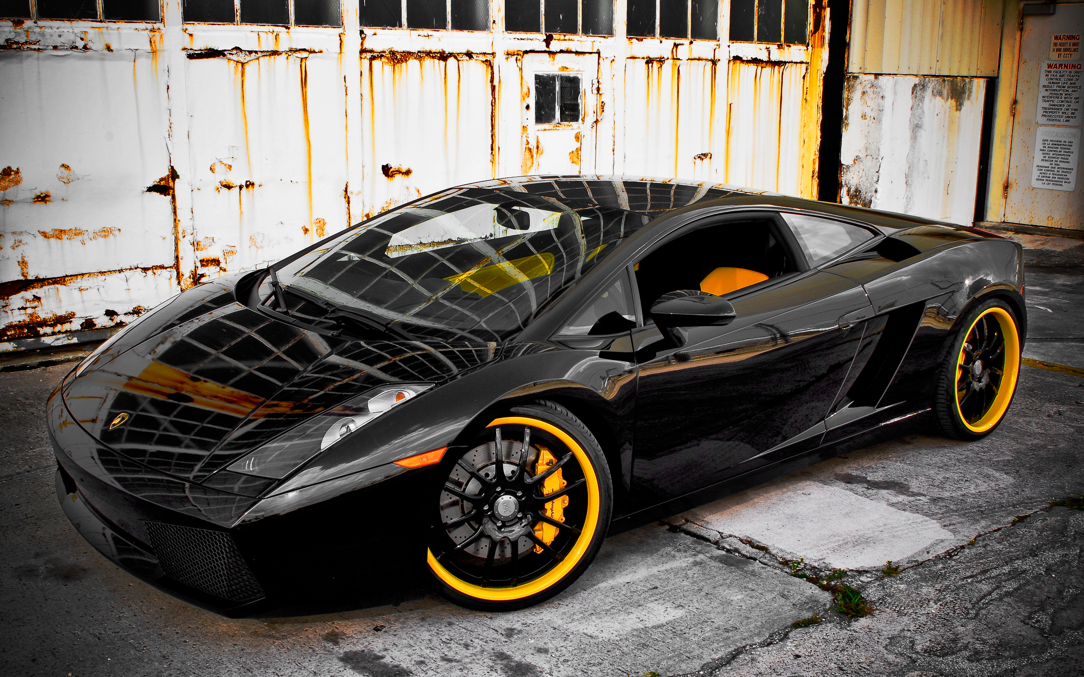 360 Forged Black Lamborghini Gallardo Wallpaper