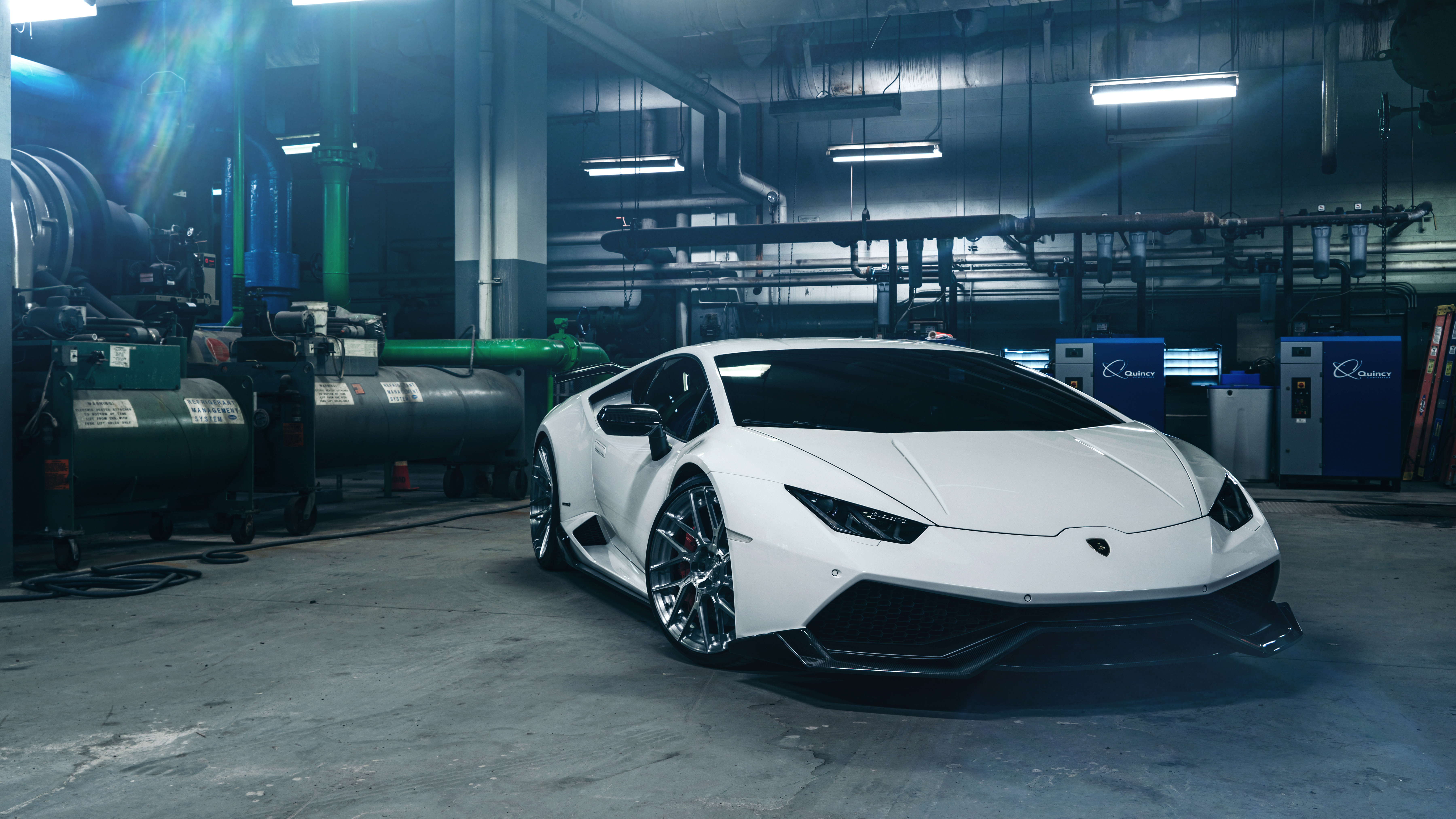 Adv1 White Lamborghini Huracan 4k 8k Wallpaper Hd Car