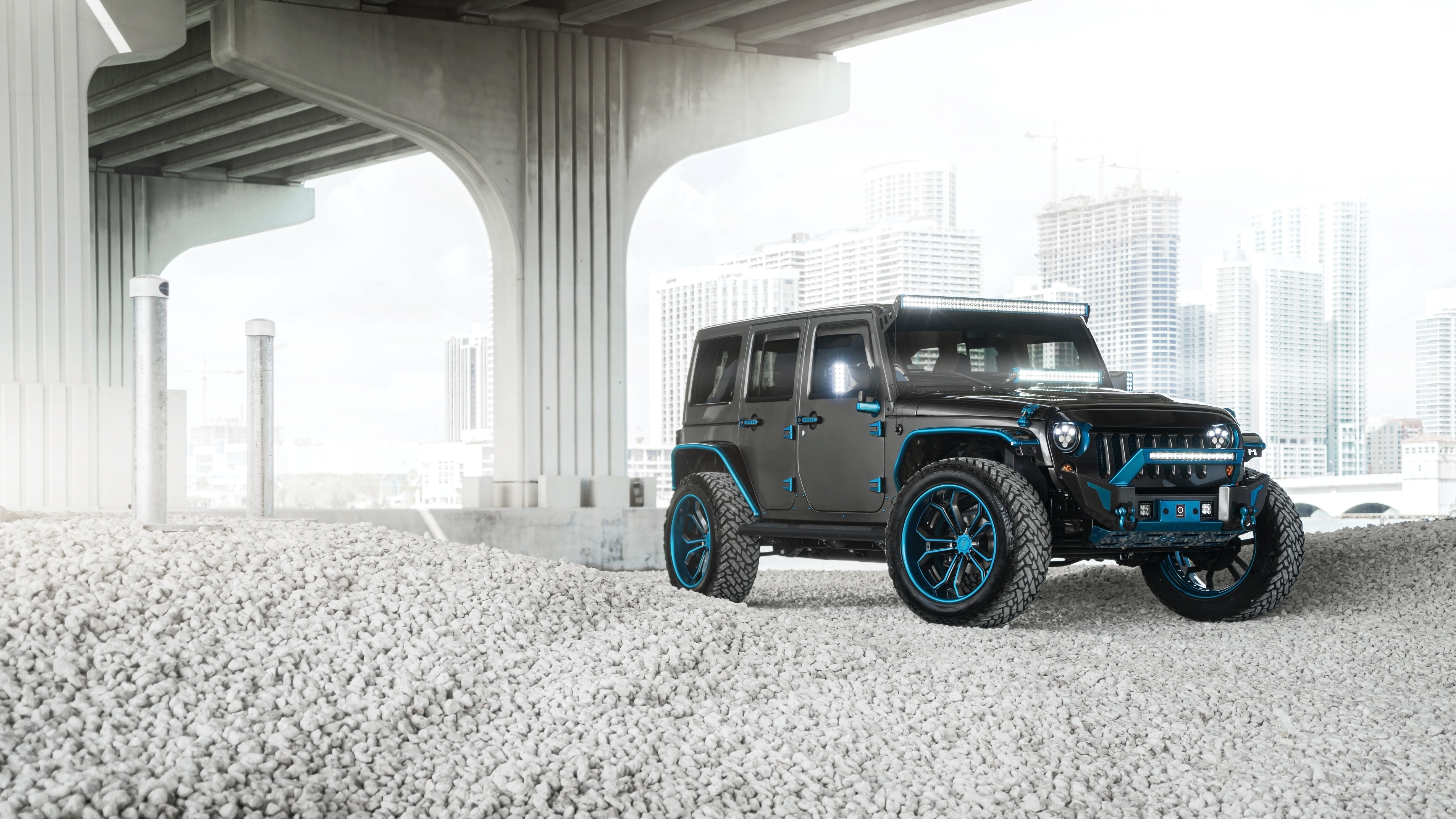 2017 Jeep Wrangler Unlimited Rubicon >> AG MC Blue Grey Jeep 5K Wallpaper   HD Car Wallpapers   ID ...