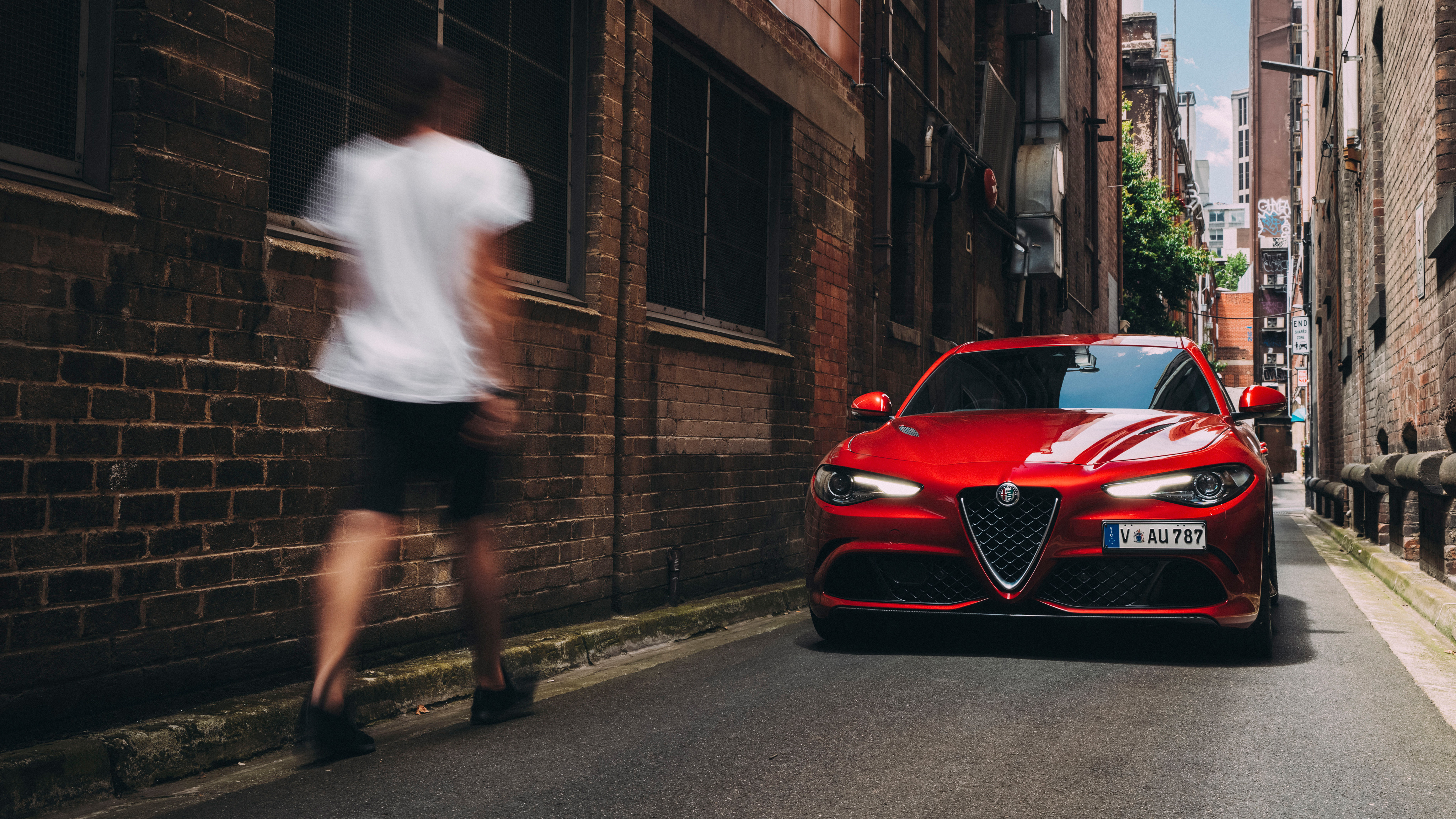 Alfa Romeo Giulia Quadrifoglio 2017 4k Wallpaper Hd Car