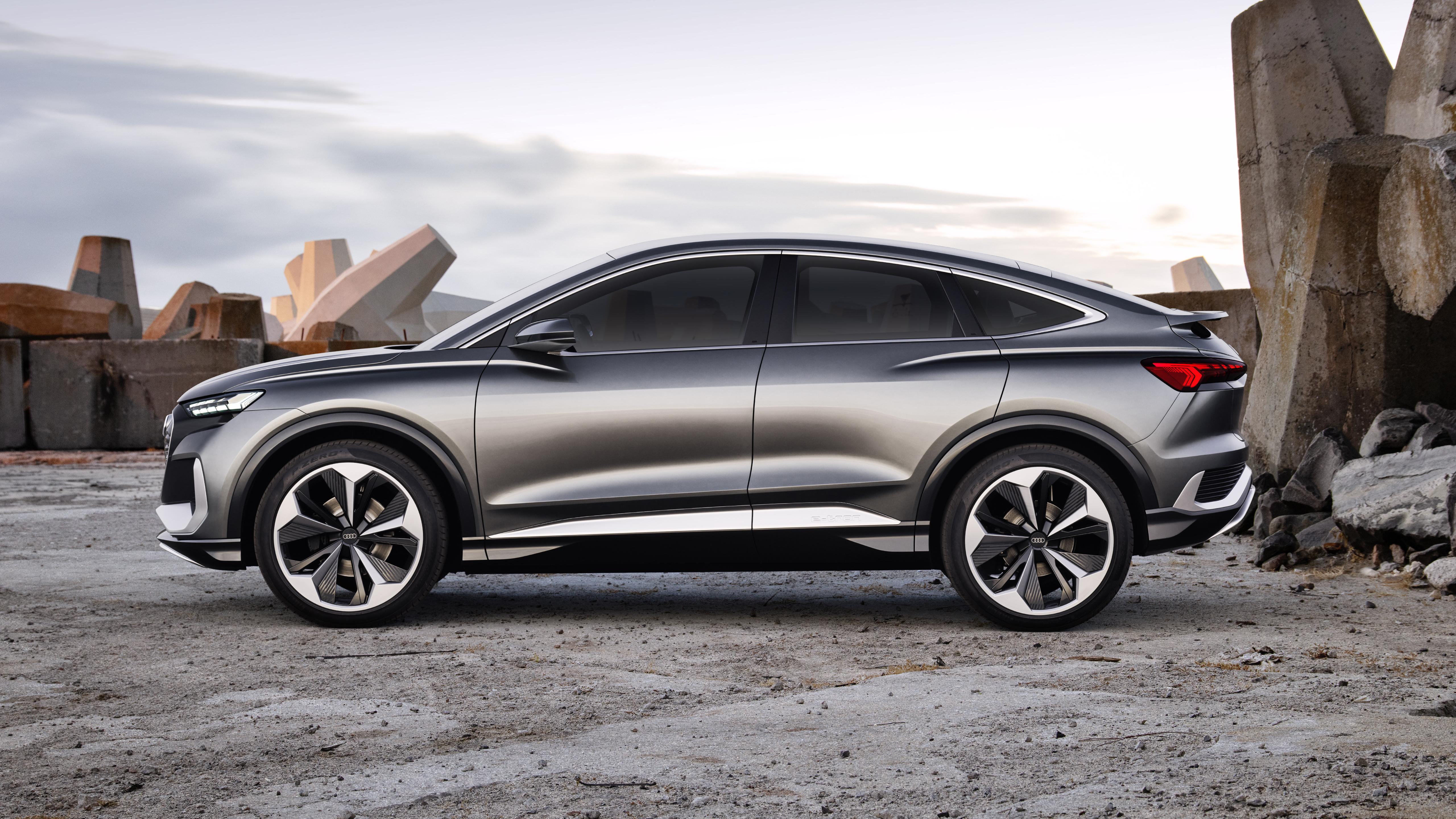 audi q4 sportback e-tron concept 2020 5k wallpaper | hd