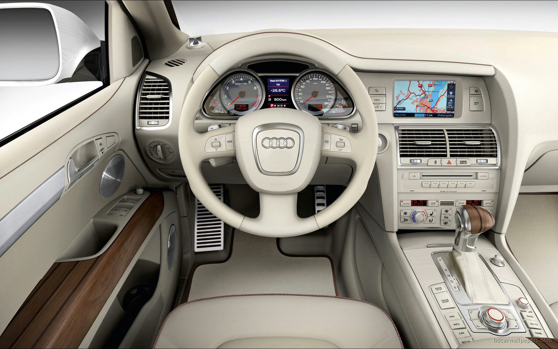 Audi Q7 Coastline Interior Wallpaper Hd Car Wallpapers Id 86