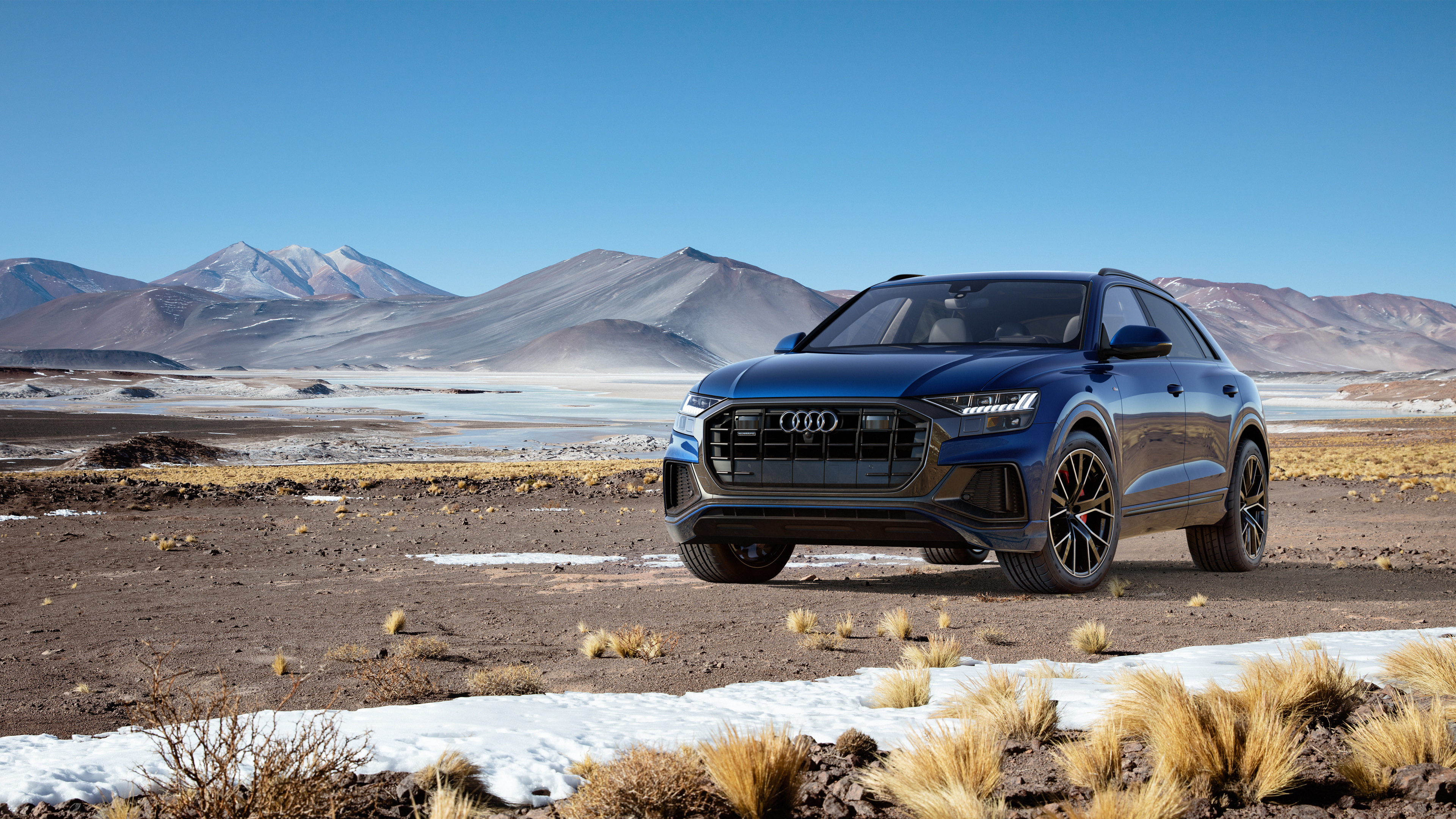 audi q8 55 tfsi quattro s line 2018 4k wallpaper hd car. Black Bedroom Furniture Sets. Home Design Ideas