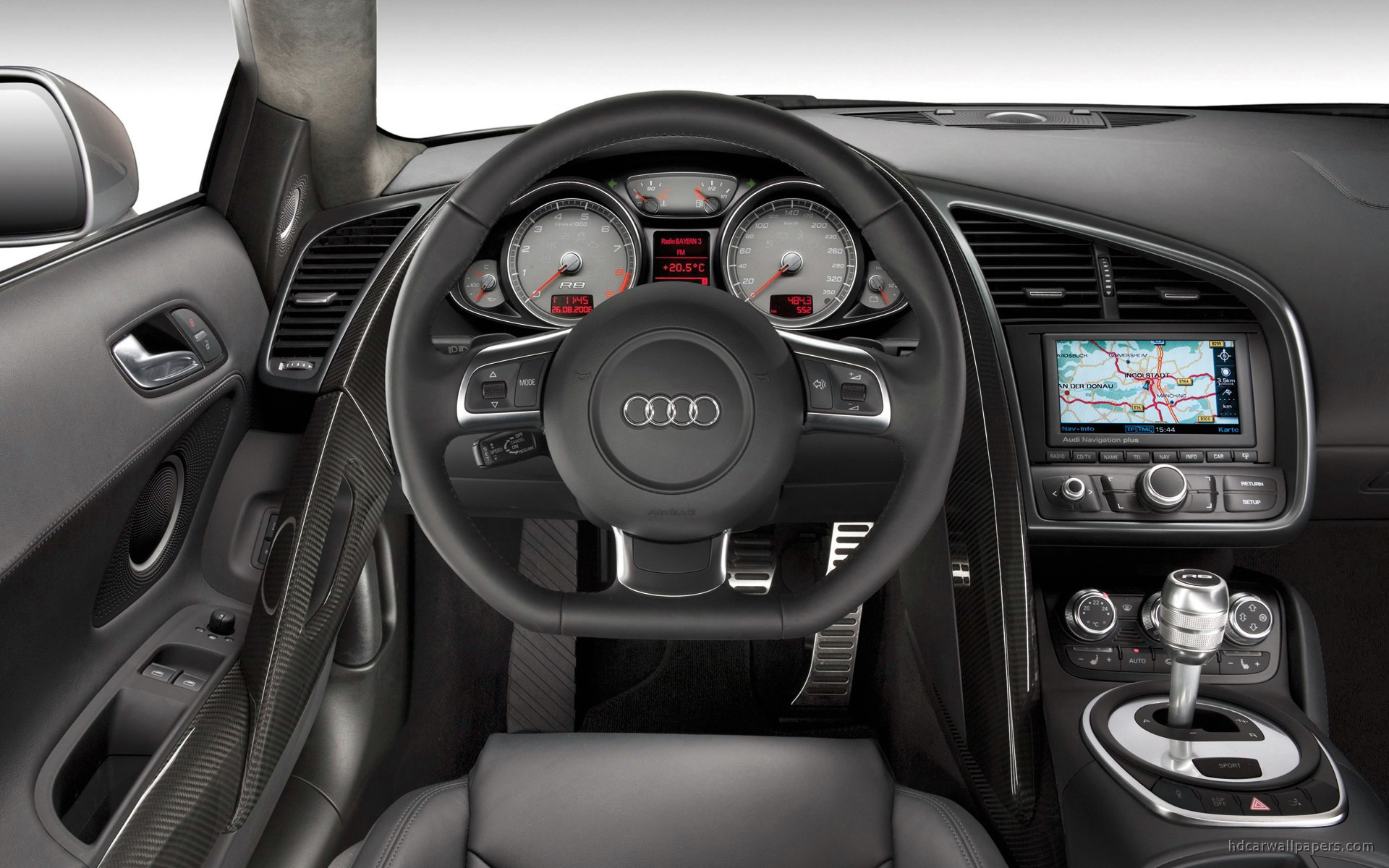 audi r8 interior wallpaper hd car wallpapers id 220. Black Bedroom Furniture Sets. Home Design Ideas