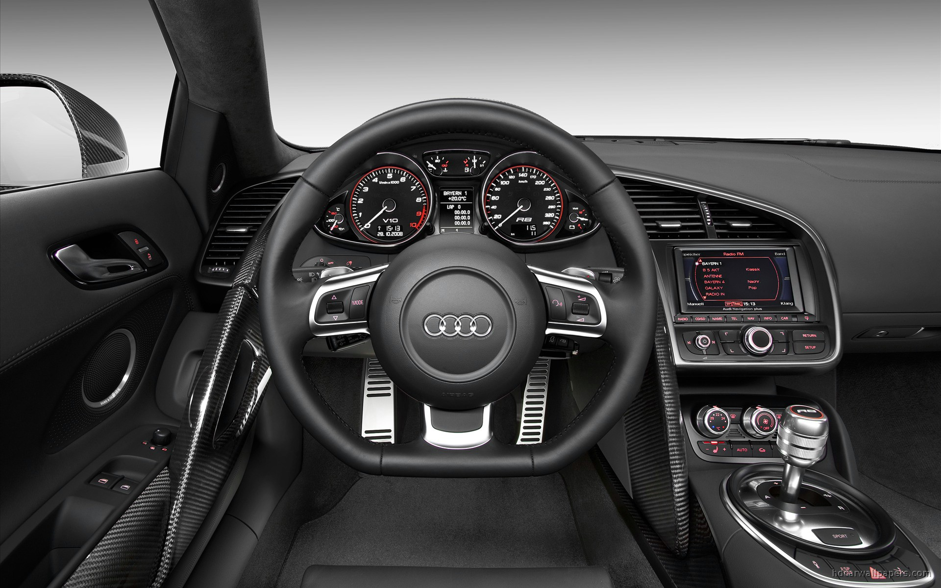 audi r8 v10 interior wallpaper hd car wallpapers id 165. Black Bedroom Furniture Sets. Home Design Ideas