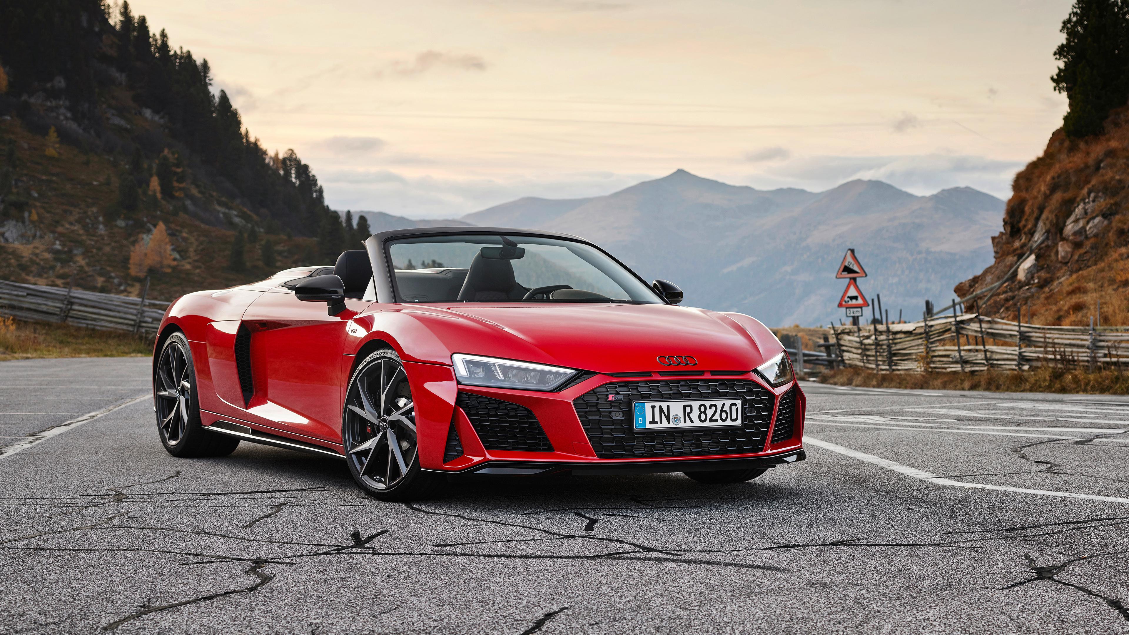 Audi R8 V10 Rwd Spyder 2019 4k 4 Wallpaper Hd Car Wallpapers Id 13611
