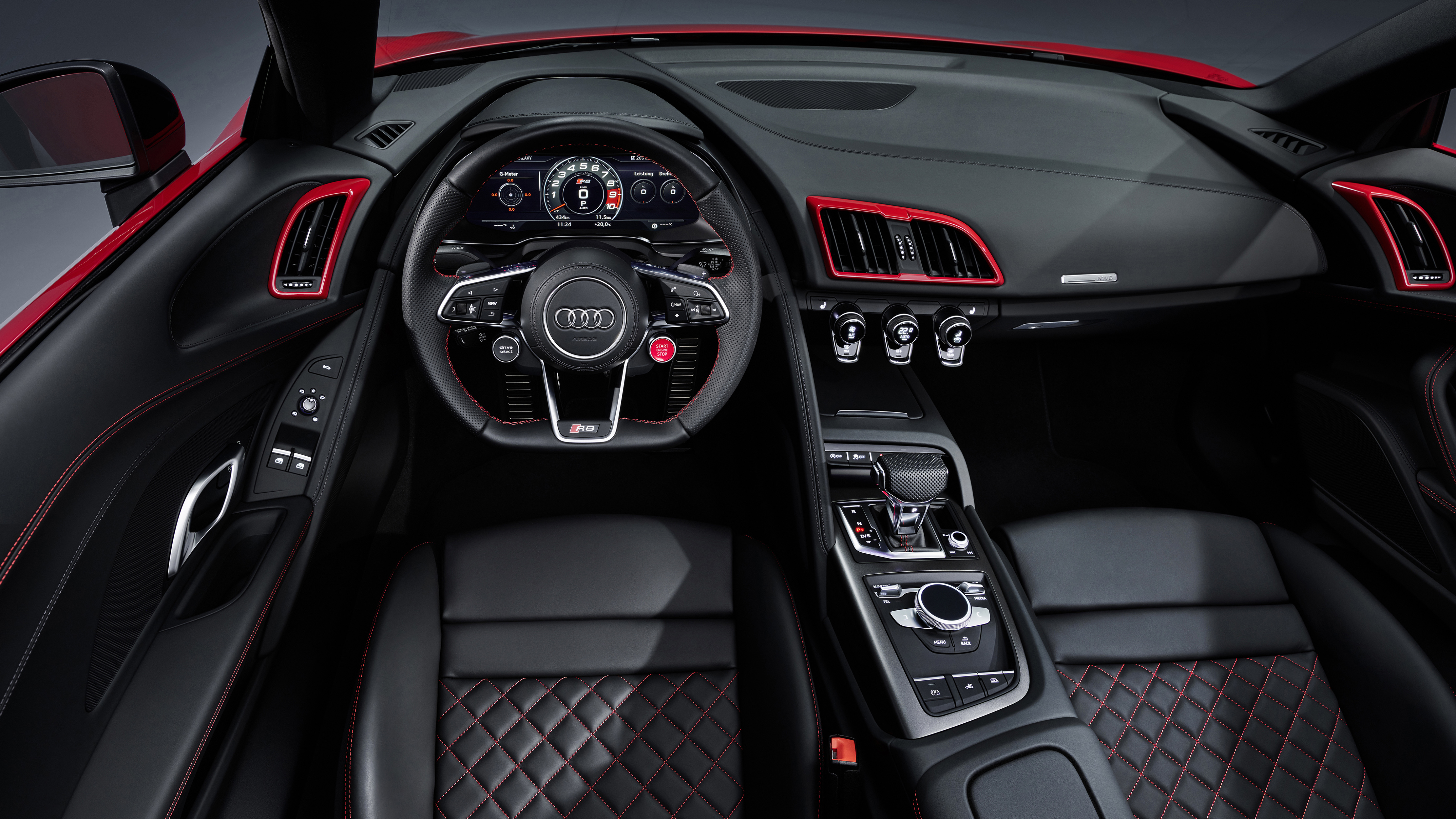 Audi R8 V10 Rwd Spyder 2019 4k Interior Wallpaper Hd Car Wallpapers Id 13600