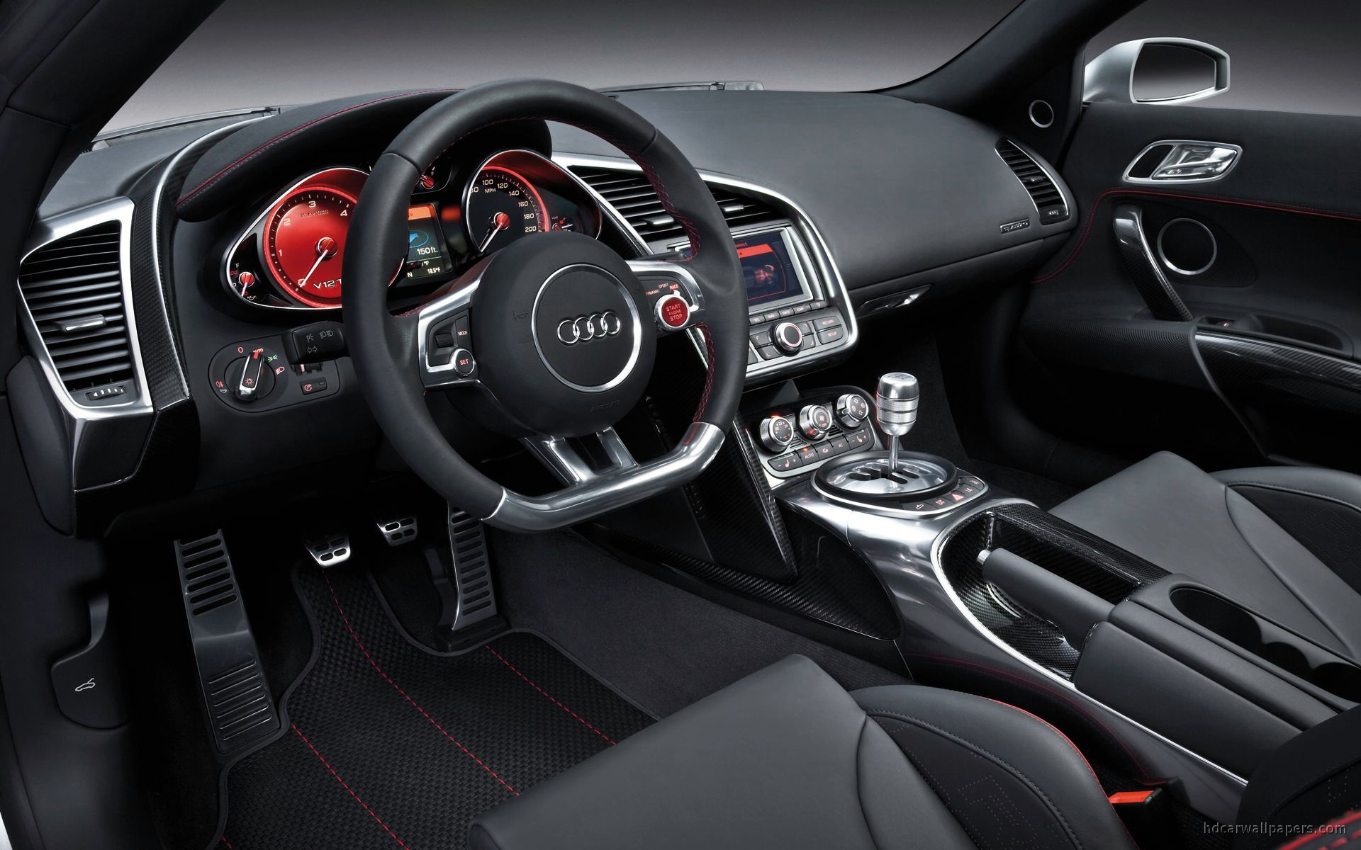 audi r8 v12 interior wallpaper hd car wallpapers id 246. Black Bedroom Furniture Sets. Home Design Ideas