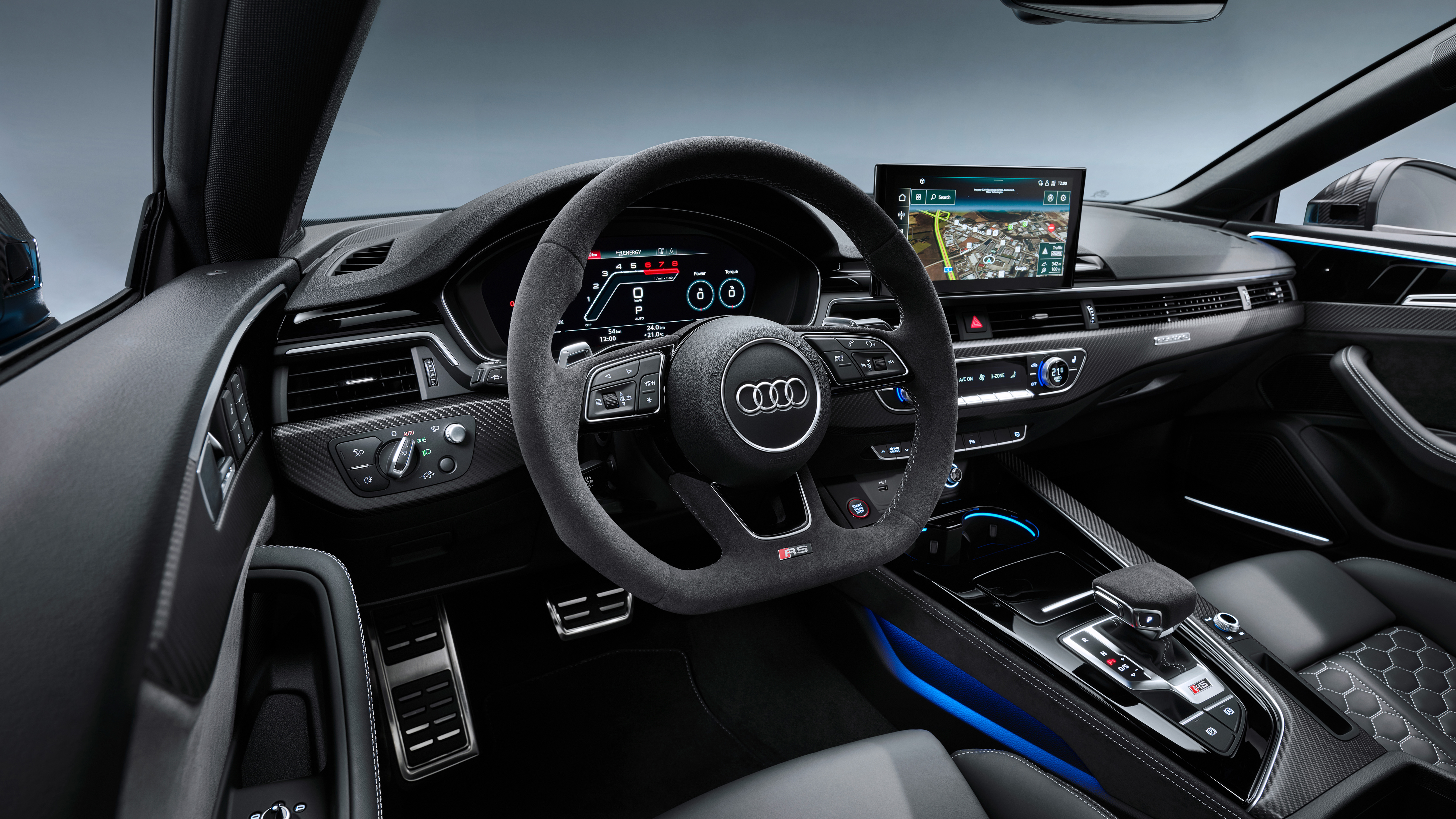 Audi Rs 5 Coupe 2019 4k Interior Wallpaper Hd Car Wallpapers Id 13896