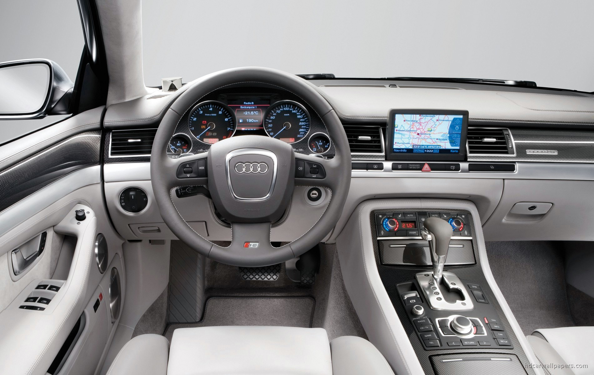 audi s8 2005 interior wallpaper hd car wallpapers id 179. Black Bedroom Furniture Sets. Home Design Ideas