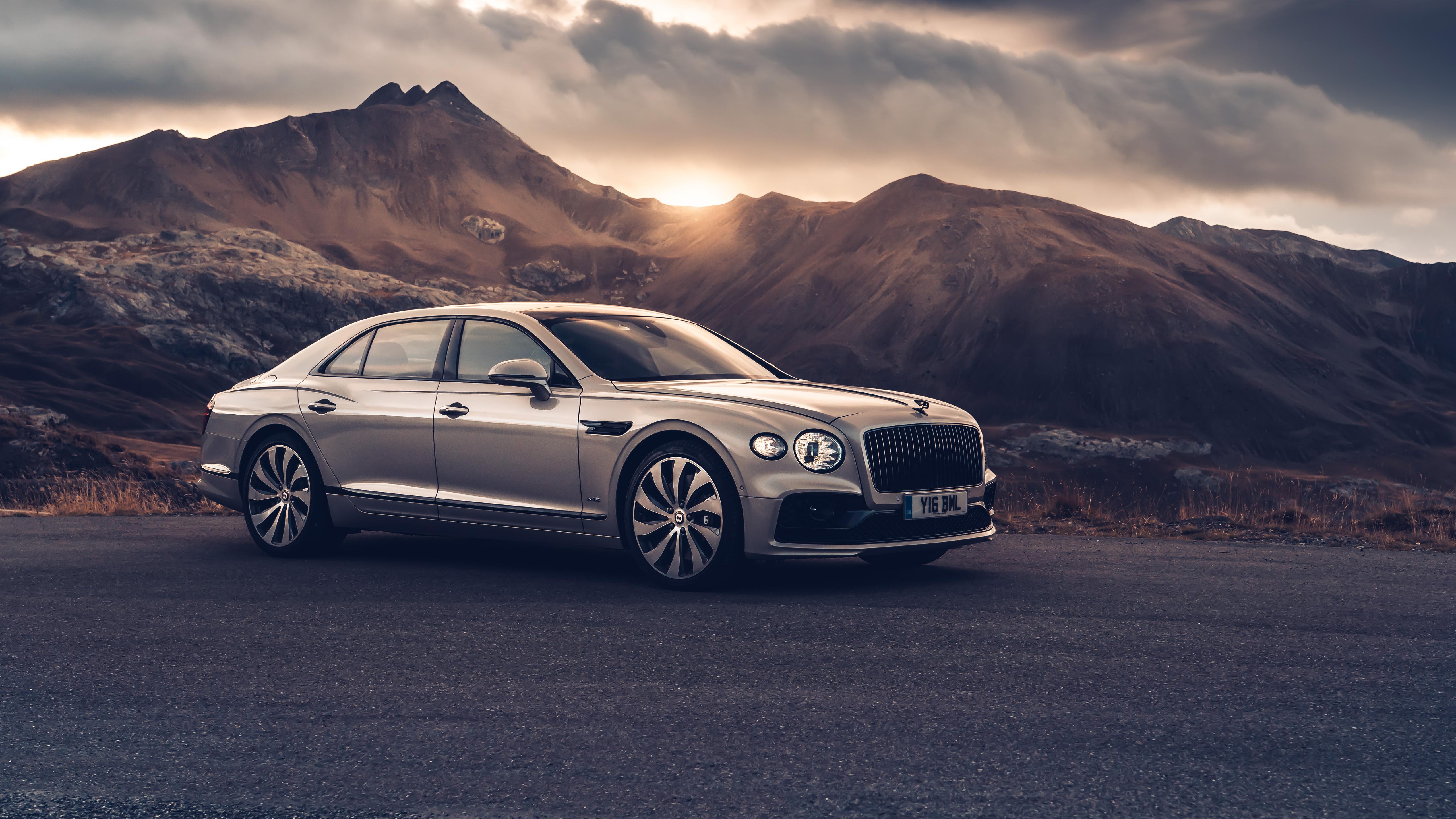 Bentley Flying Spur Blackline 2019 5k 2 Wallpaper Hd Car Wallpapers Id 13536