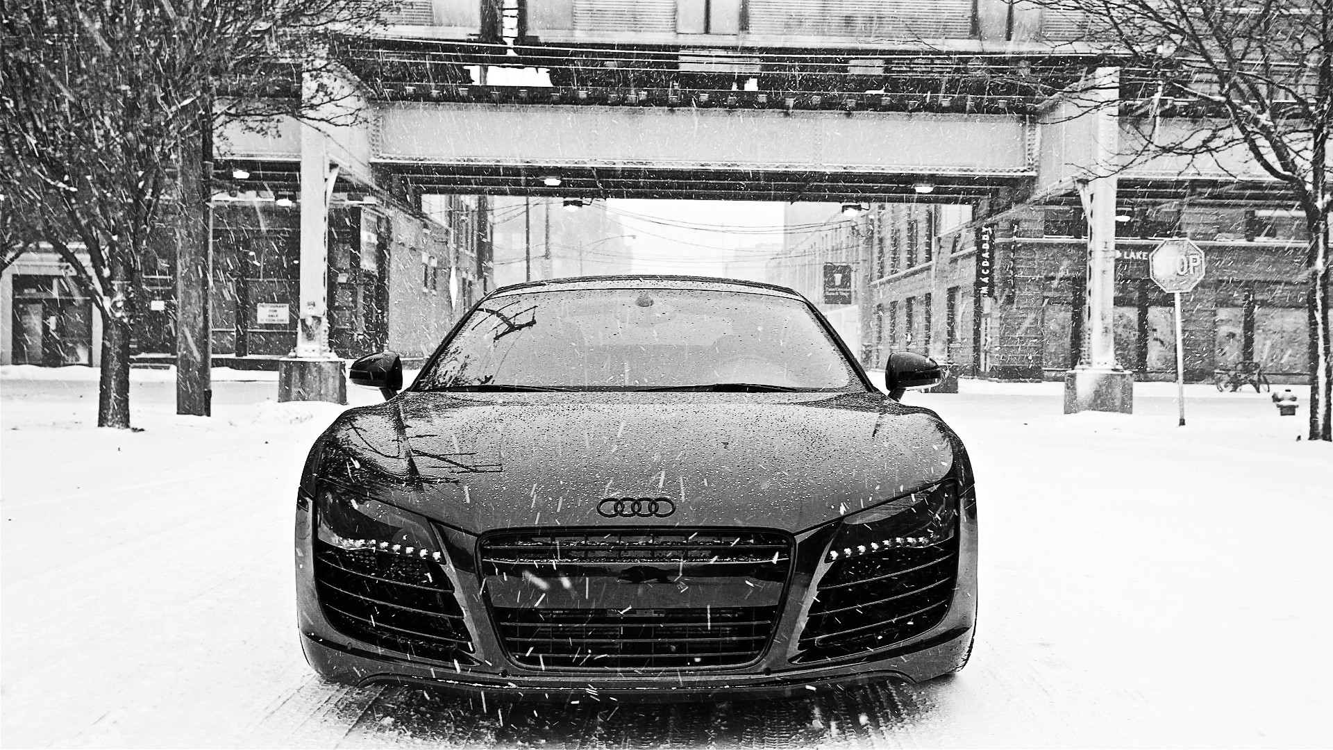 Black Audi R8 Wallpaper