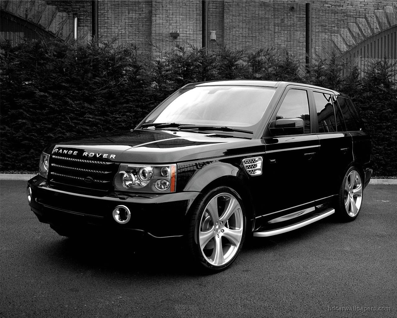 Range Rover Sport Black Wallpaper: Black Sexy Land Rover Wallpaper