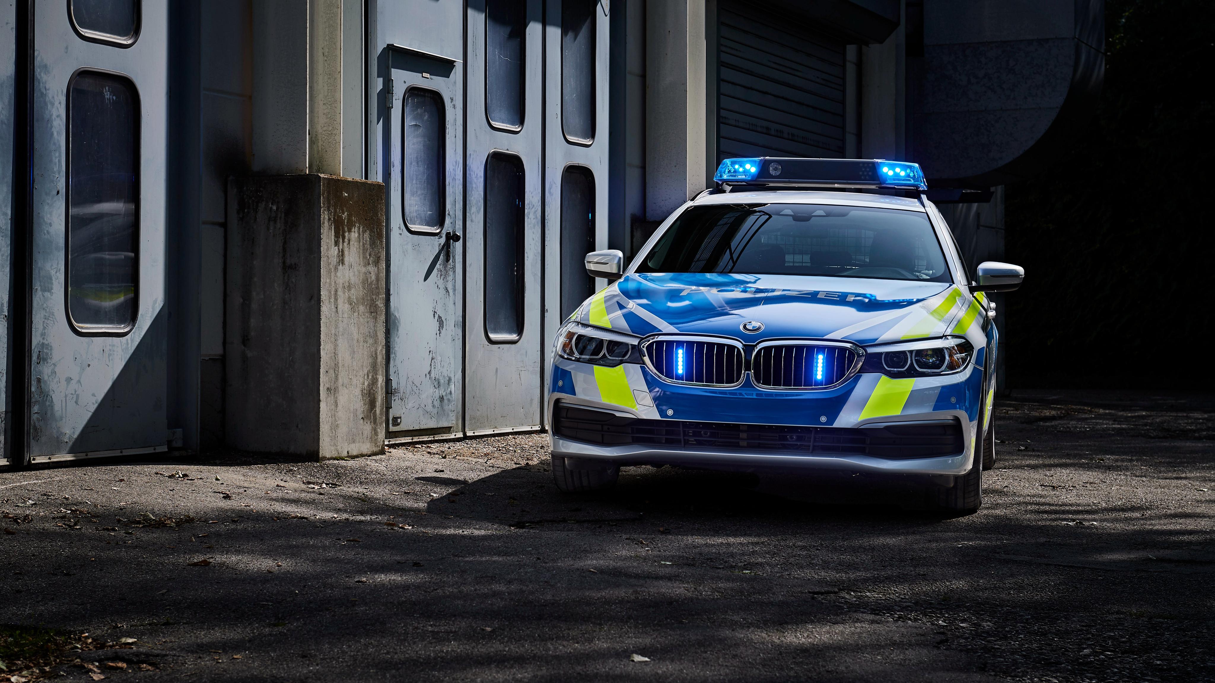 Bmw 530d Xdrive Touring Polizei 2017 4k Wallpaper Hd Car
