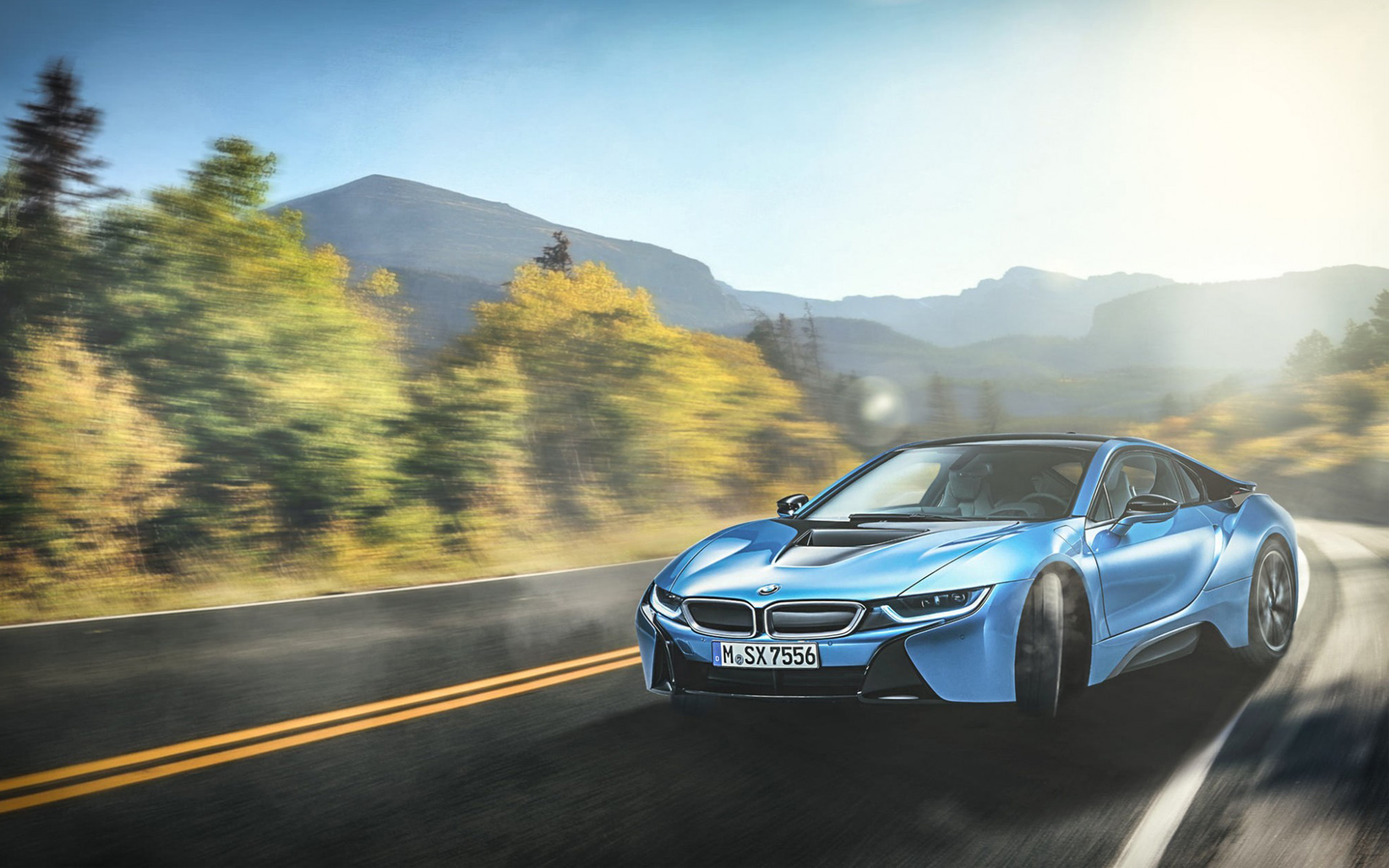 Best Wallpaper Mountain Car - bmw_i8_blue-wide  Picture_402979.jpg