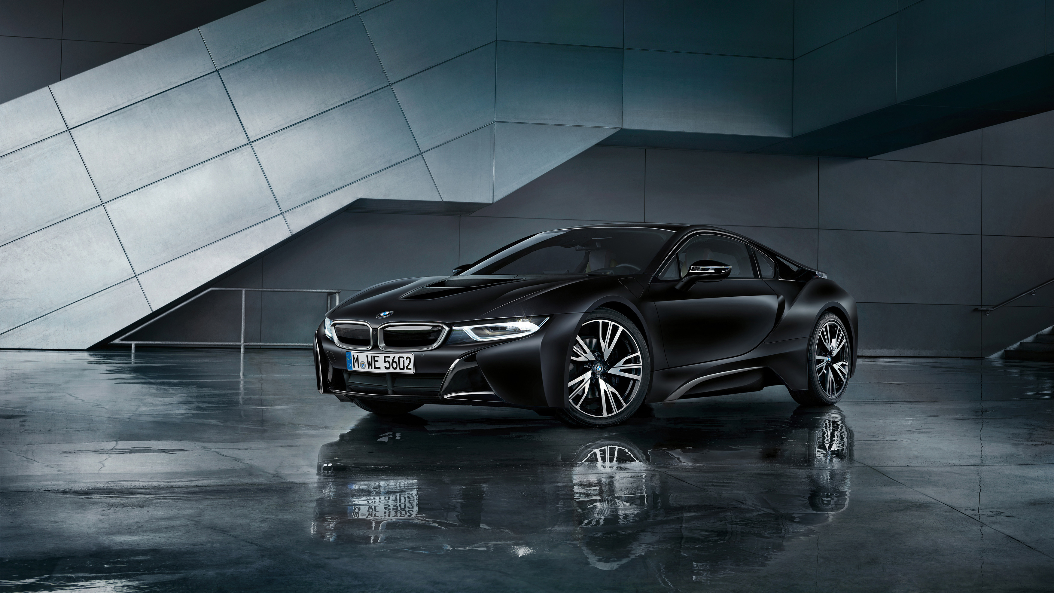 BMW i8 Frozen Black 2017 Wallpaper | HD Car Wallpapers