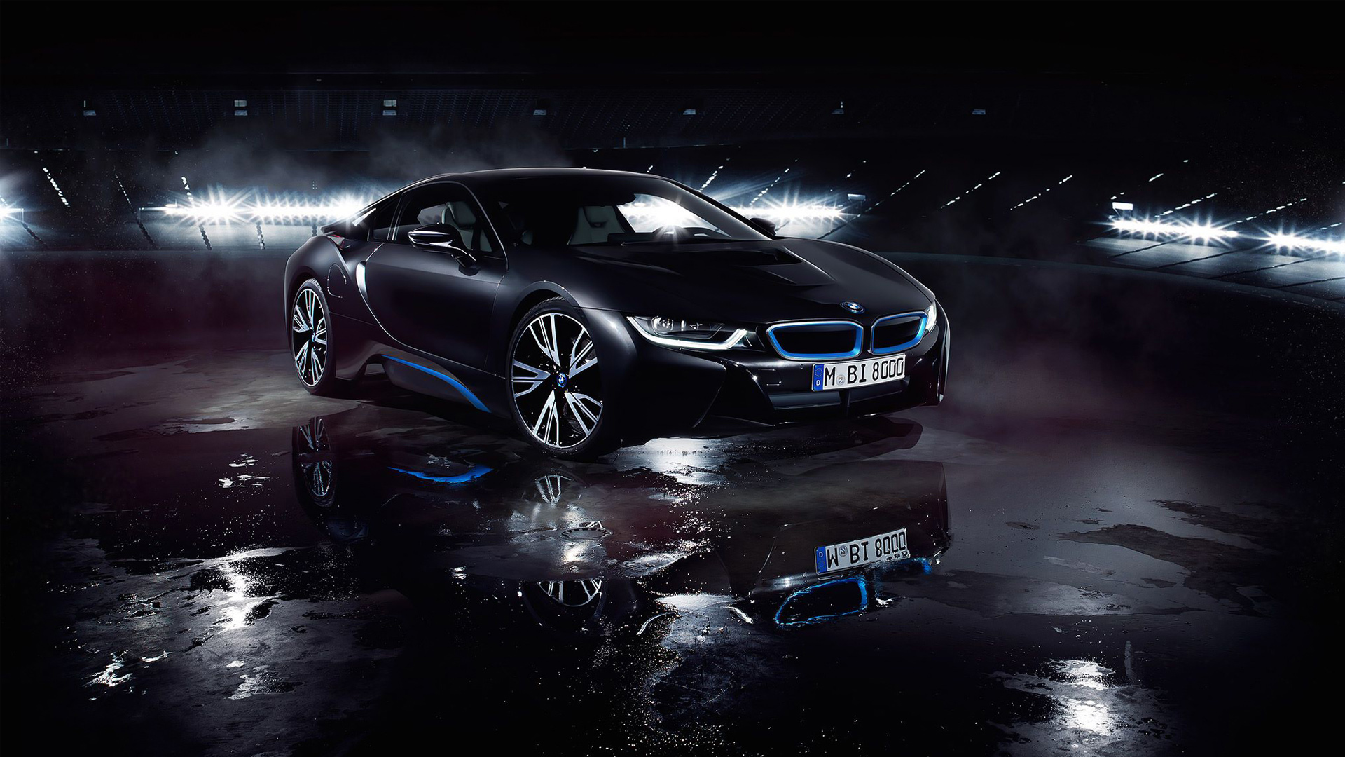 bmw i8 matte black wallpaper | hd car wallpapers | id #5789