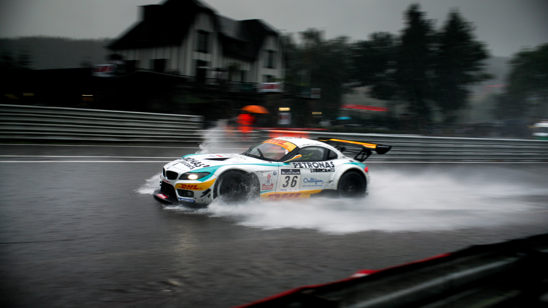 BMW Rain Race Wallpaper  HD Car Wallpapers