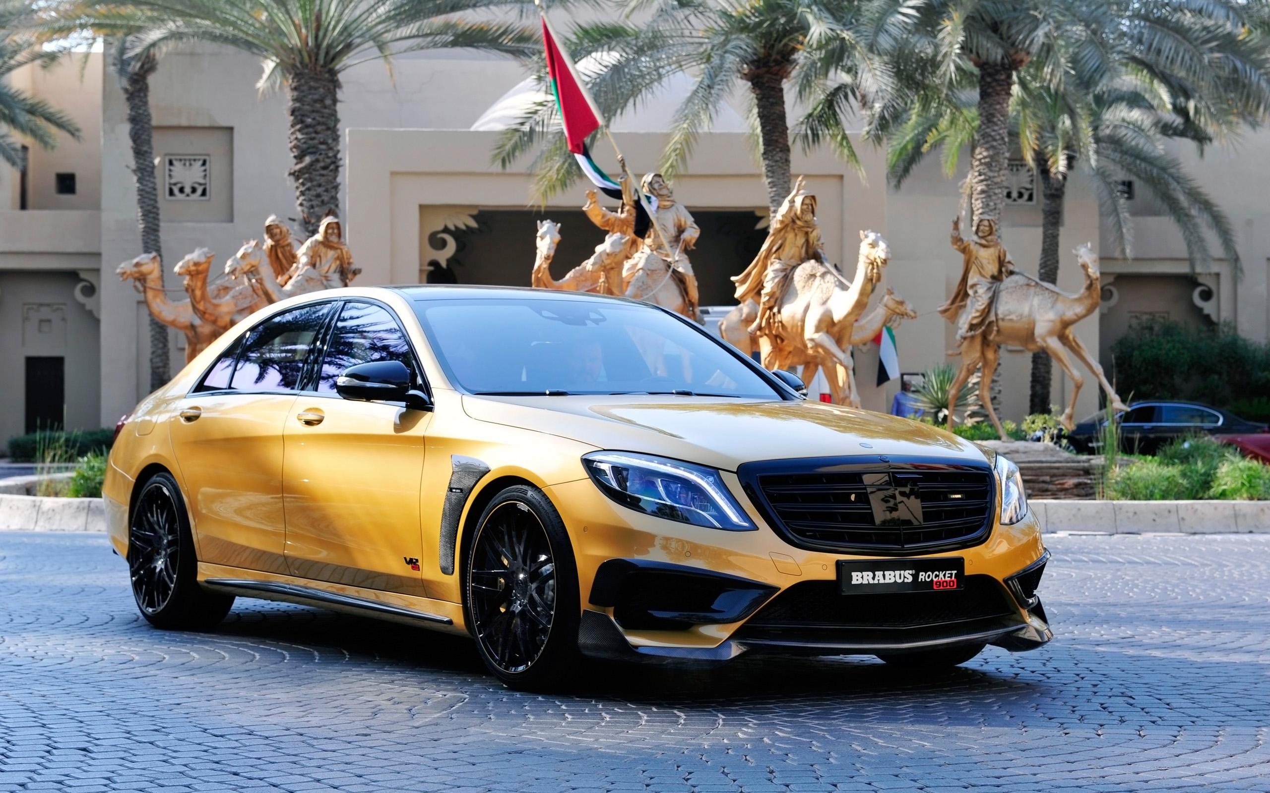 Brabus Mercedes Benz S65 Rocket 900 Desert Gold Wallpaper | HD Car ...