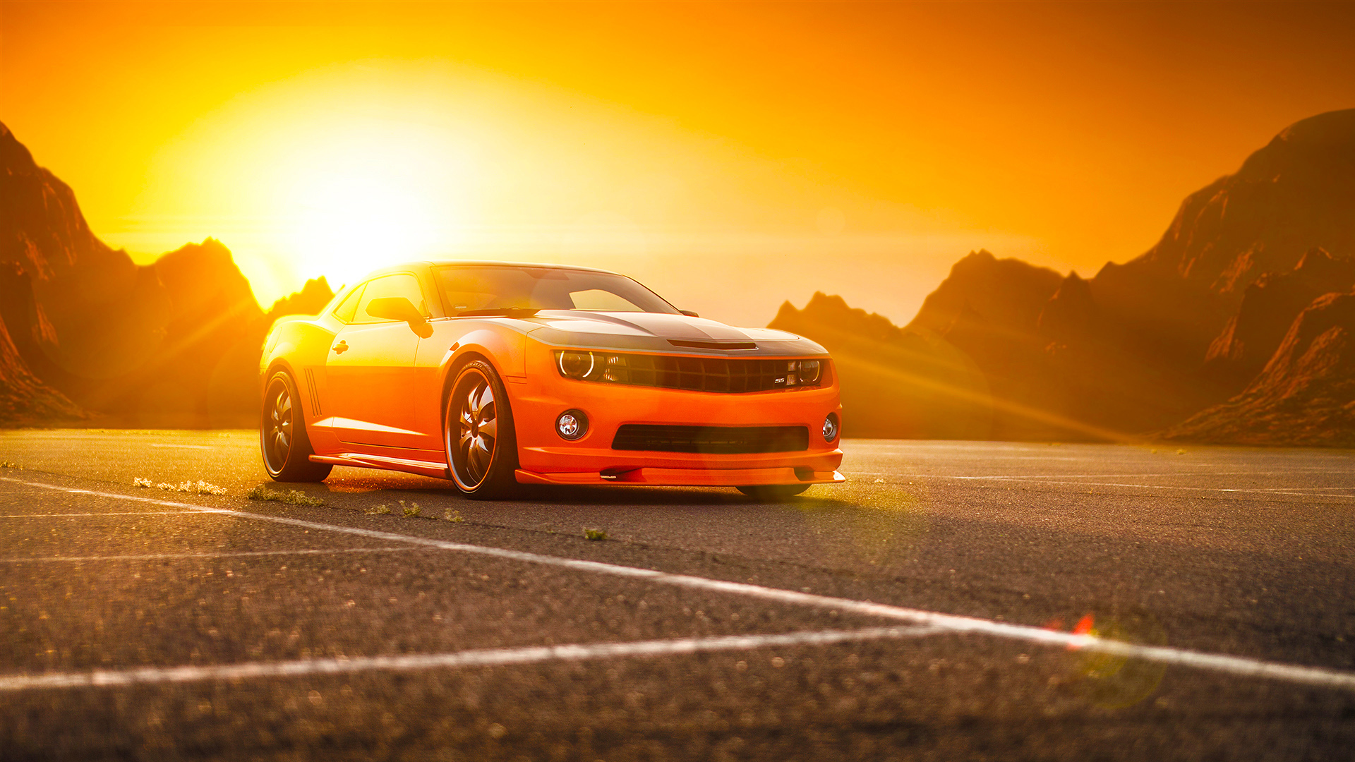 Hd Car Wallpapers For Mobile 28 Wallpapers: Chevrolet Camaro SS Orange Wallpaper