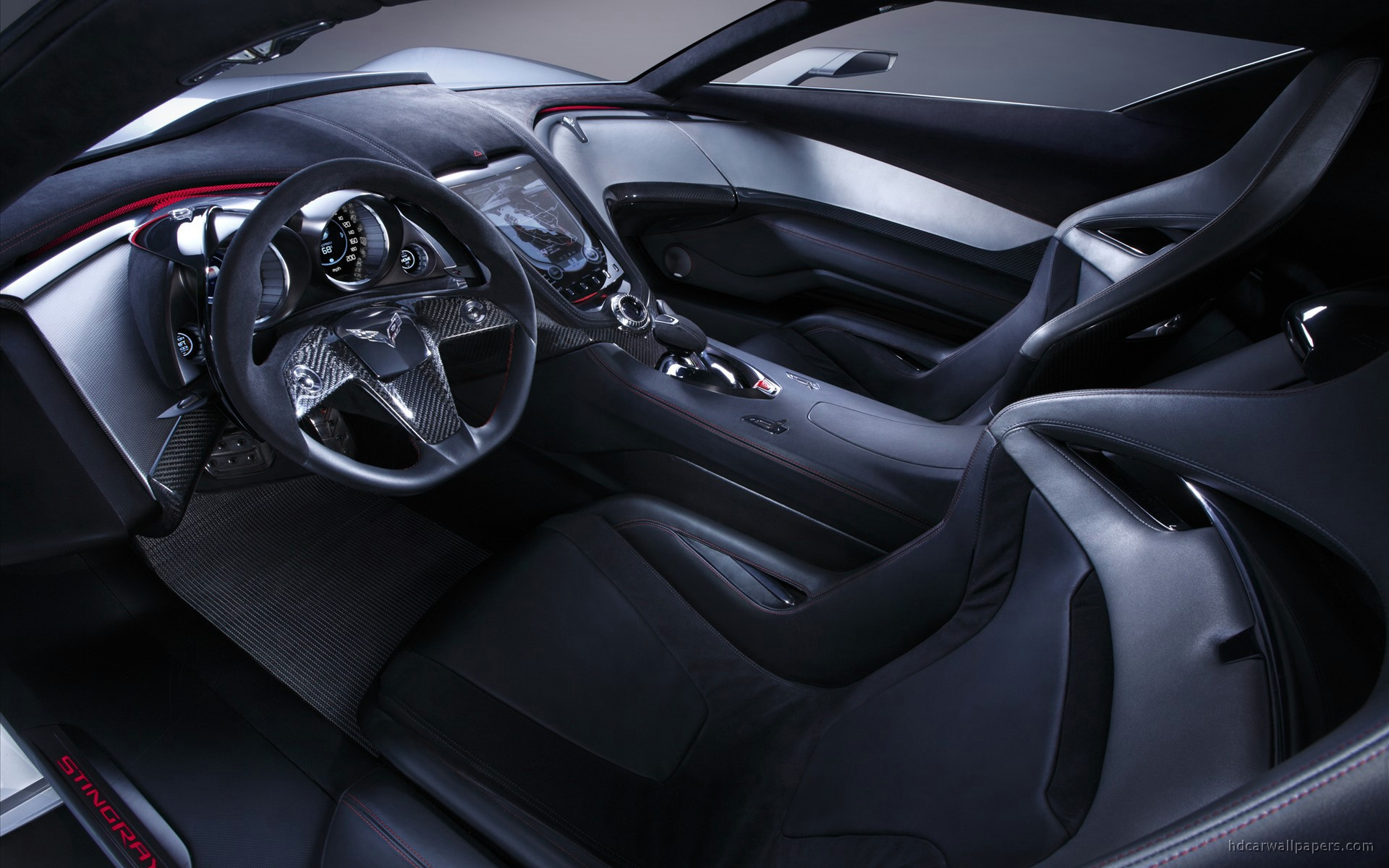chevrolet corvette stingray concept interior wallpaper hd car wallpapers id 451. Black Bedroom Furniture Sets. Home Design Ideas