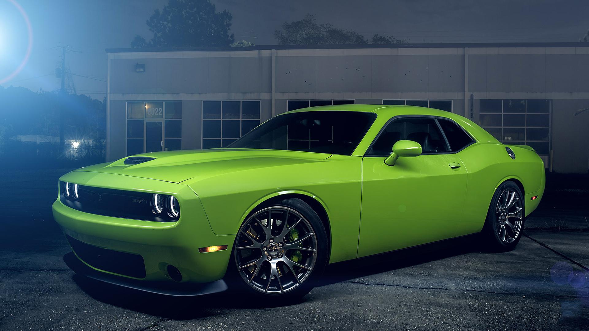dodge challenger srt hellcat green wallpaper | hd car wallpapers