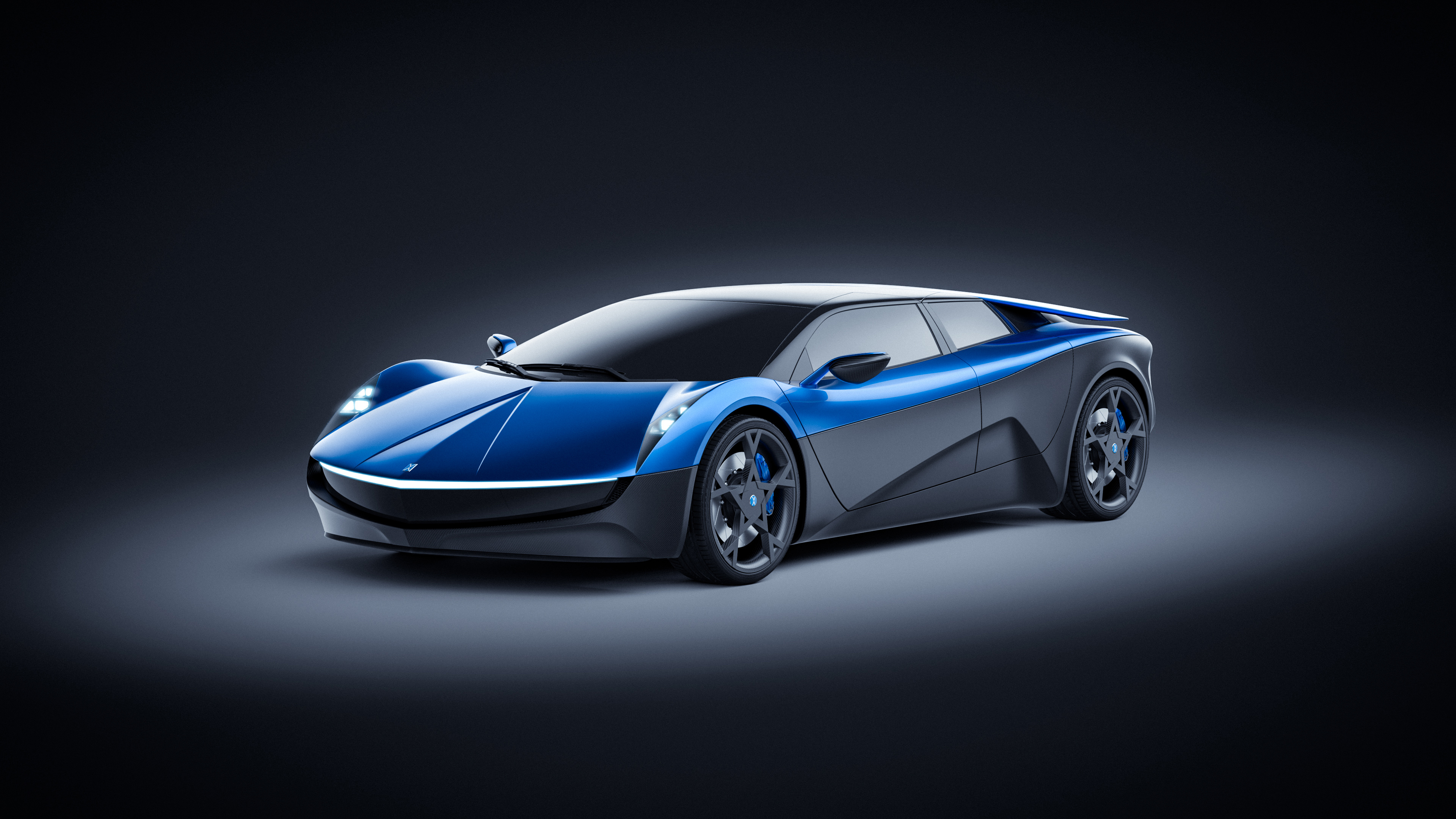 Elextra Electric Sedan Concept 4K Wallpaper