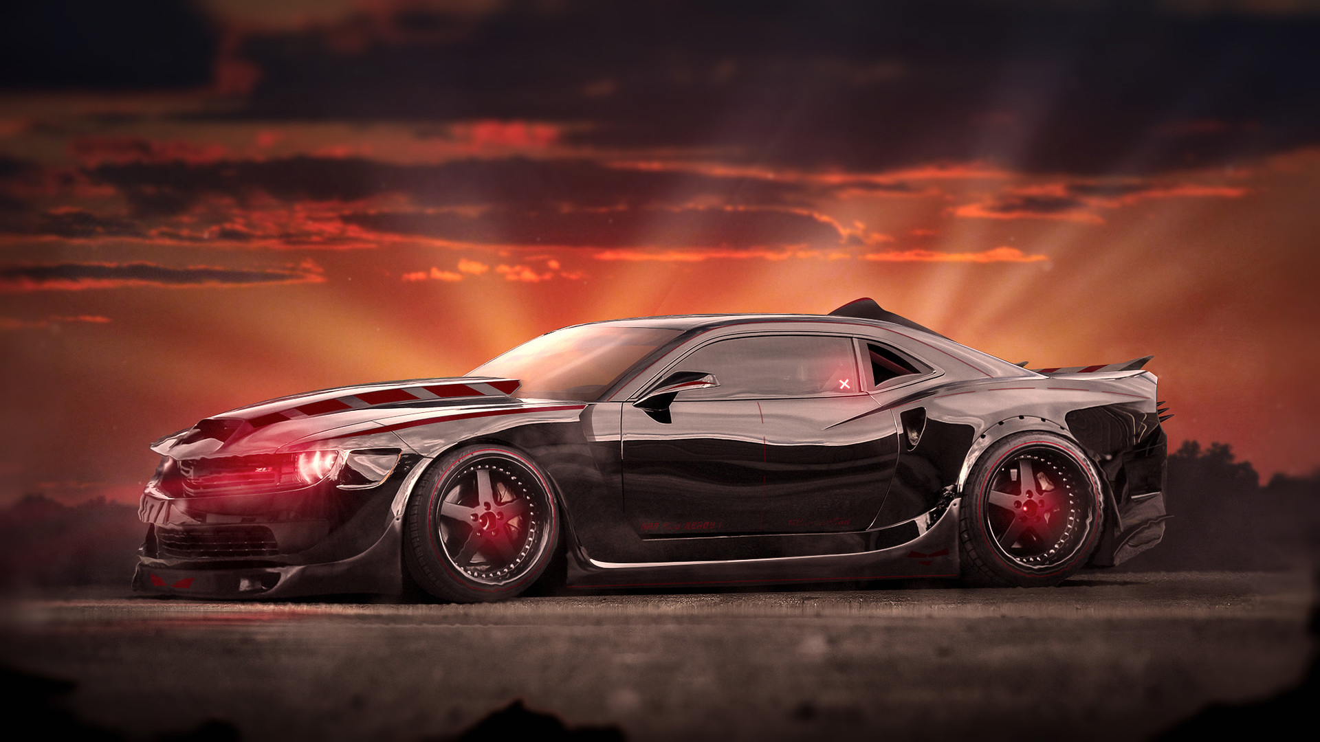 Evil Chevrolet Camaro Muscle Car Wallpaper | HD Car ...
