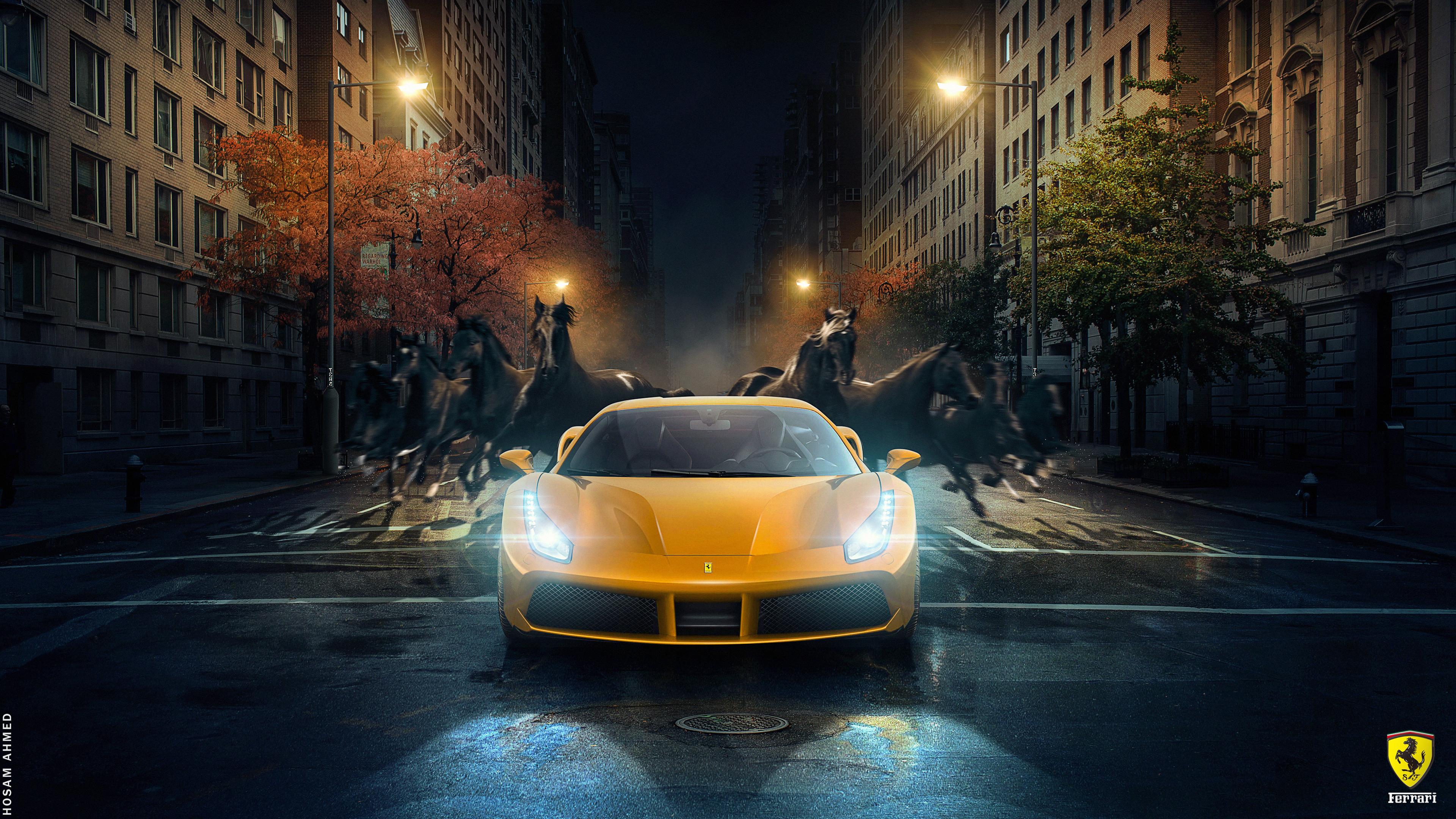 4K Car Wallpaper Ferrari