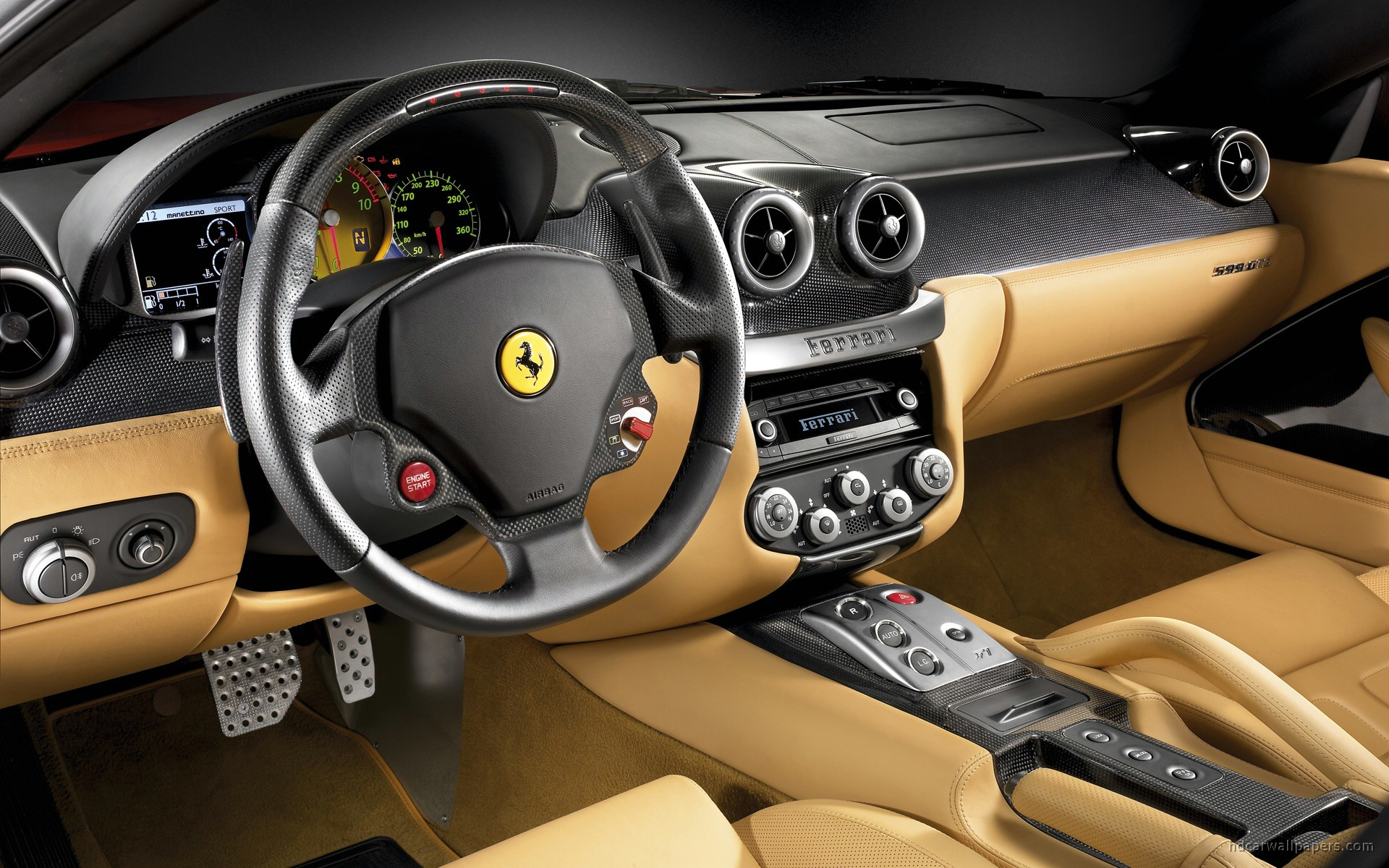 ferrari 599 gtb interior wallpaper hd car wallpapers id 816. Black Bedroom Furniture Sets. Home Design Ideas