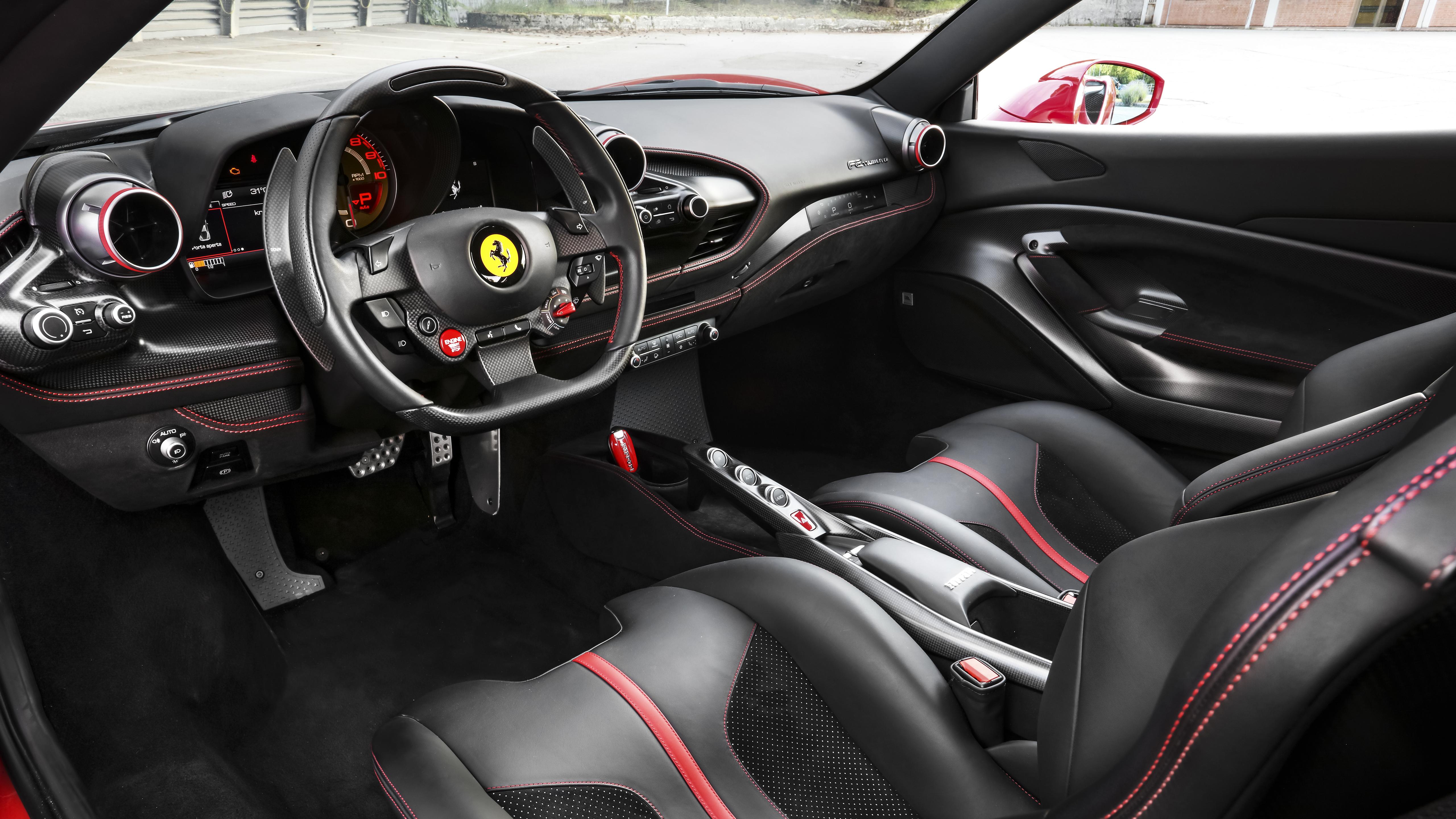 Ferrari F8 Tributo 2019 4k Interior Wallpaper Hd Car