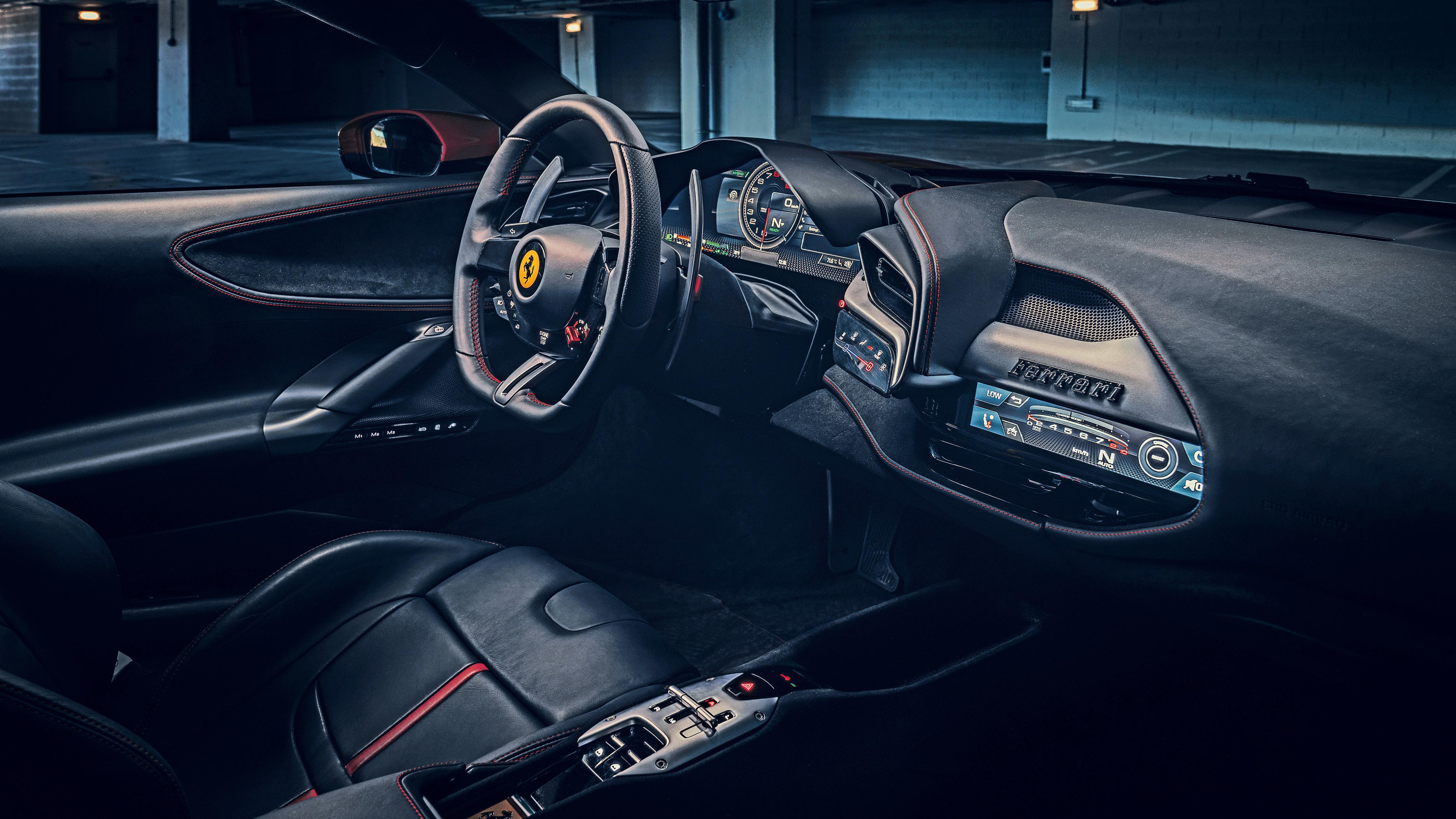 Ferrari Sf90 Stradale 2019 4k Interior Wallpaper Hd Car Wallpapers Id 12926
