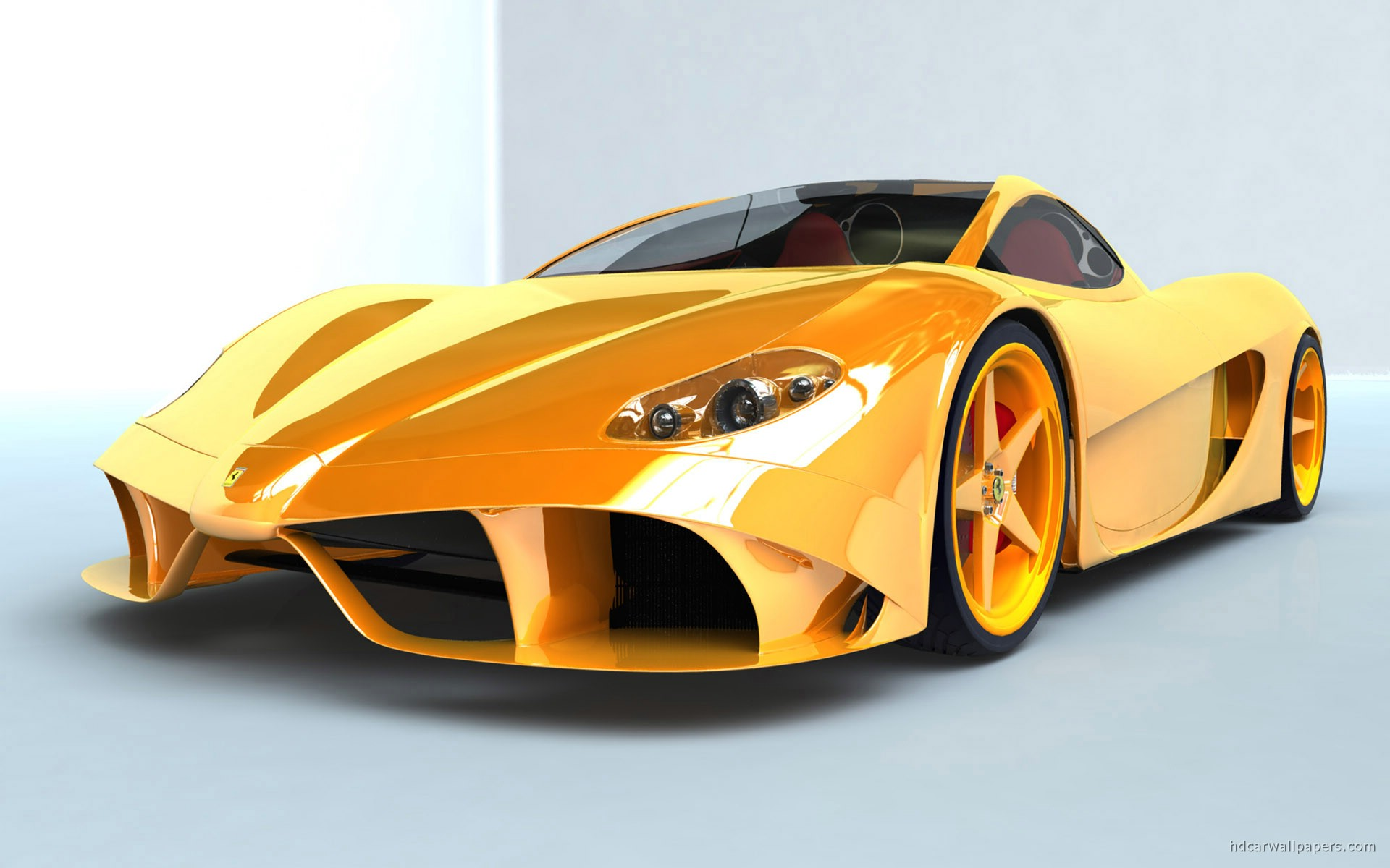 Tags Concept Yellow Ferrari