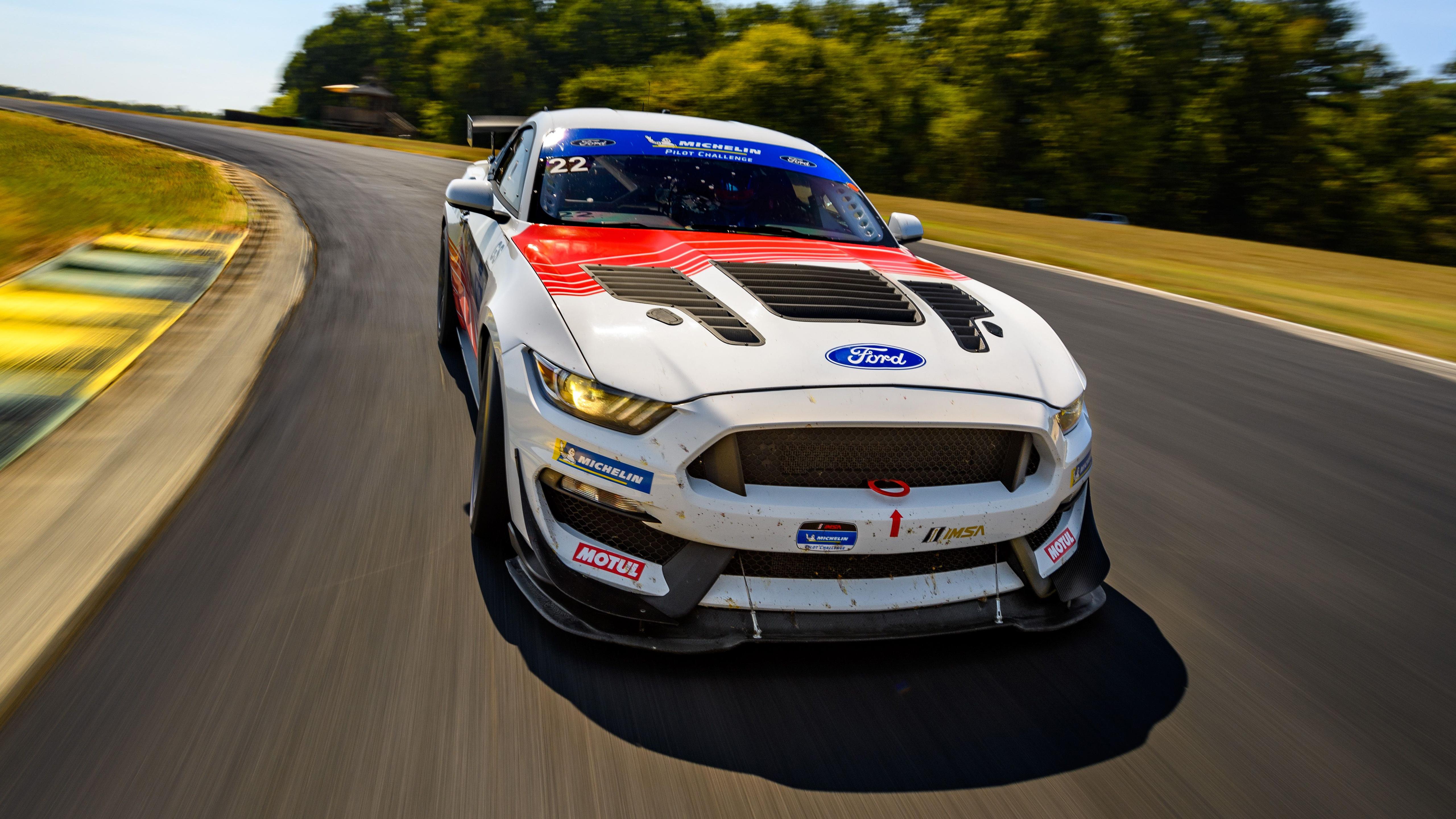 Ford Mustang Gt4 Race Car 4k 5k Wallpaper Hd Car Wallpapers Id 14058