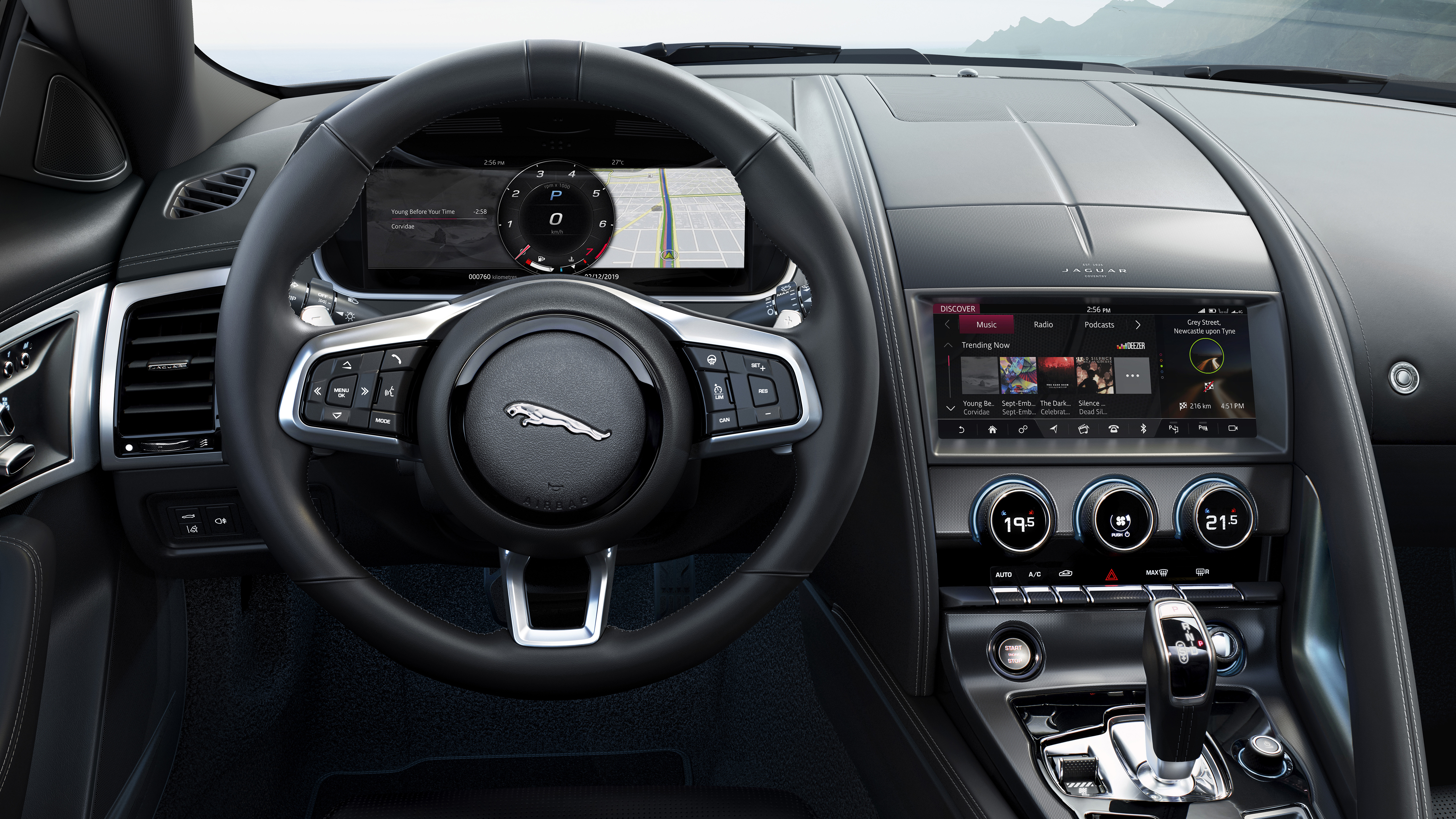 Jaguar F Type R Coupe 2020 4k Interior Wallpaper Hd Car Wallpapers Id 13913