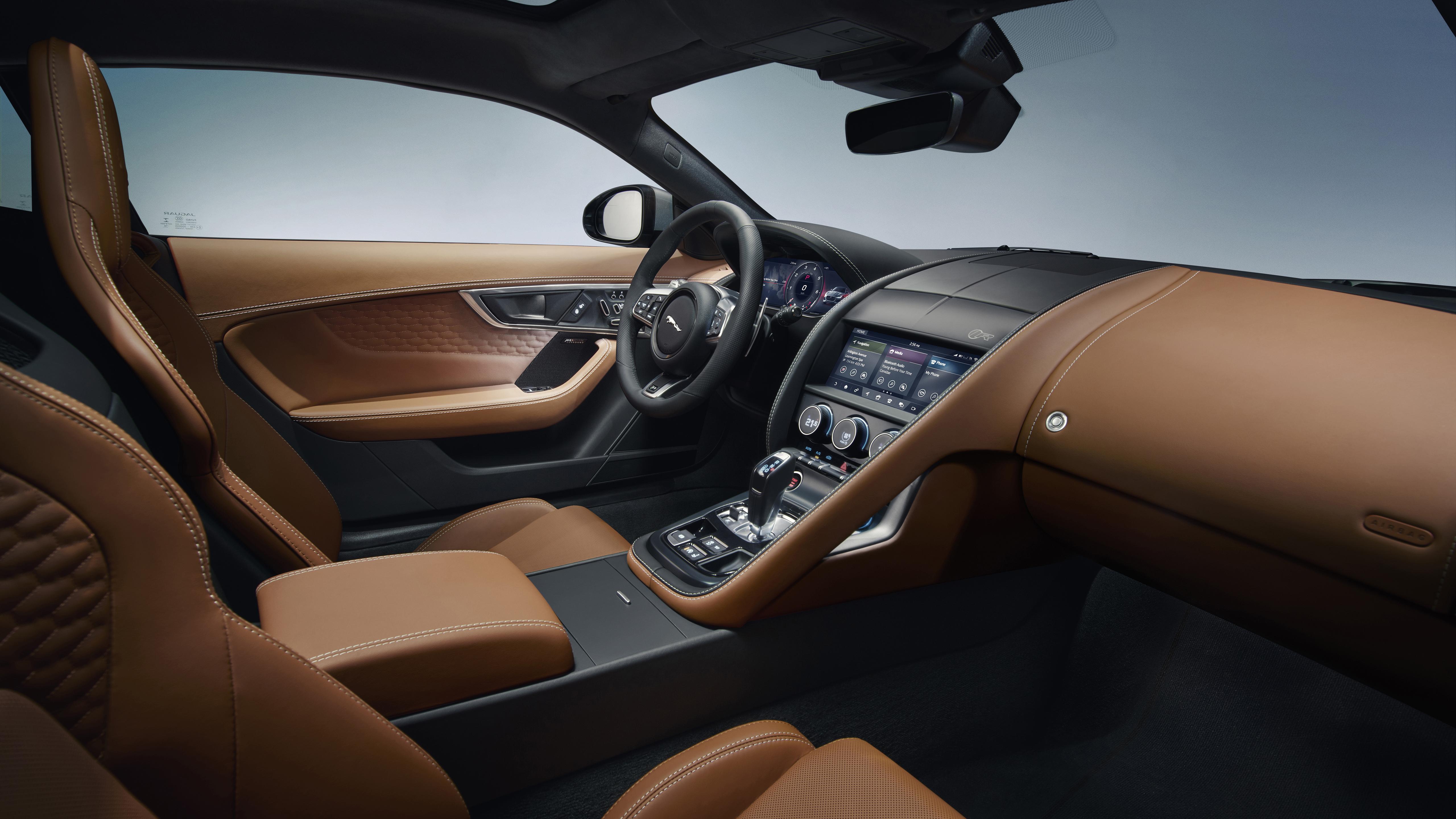 Jaguar F Type R Coupe 2020 4k Interior 2 Wallpaper Hd Car Wallpapers Id 13906