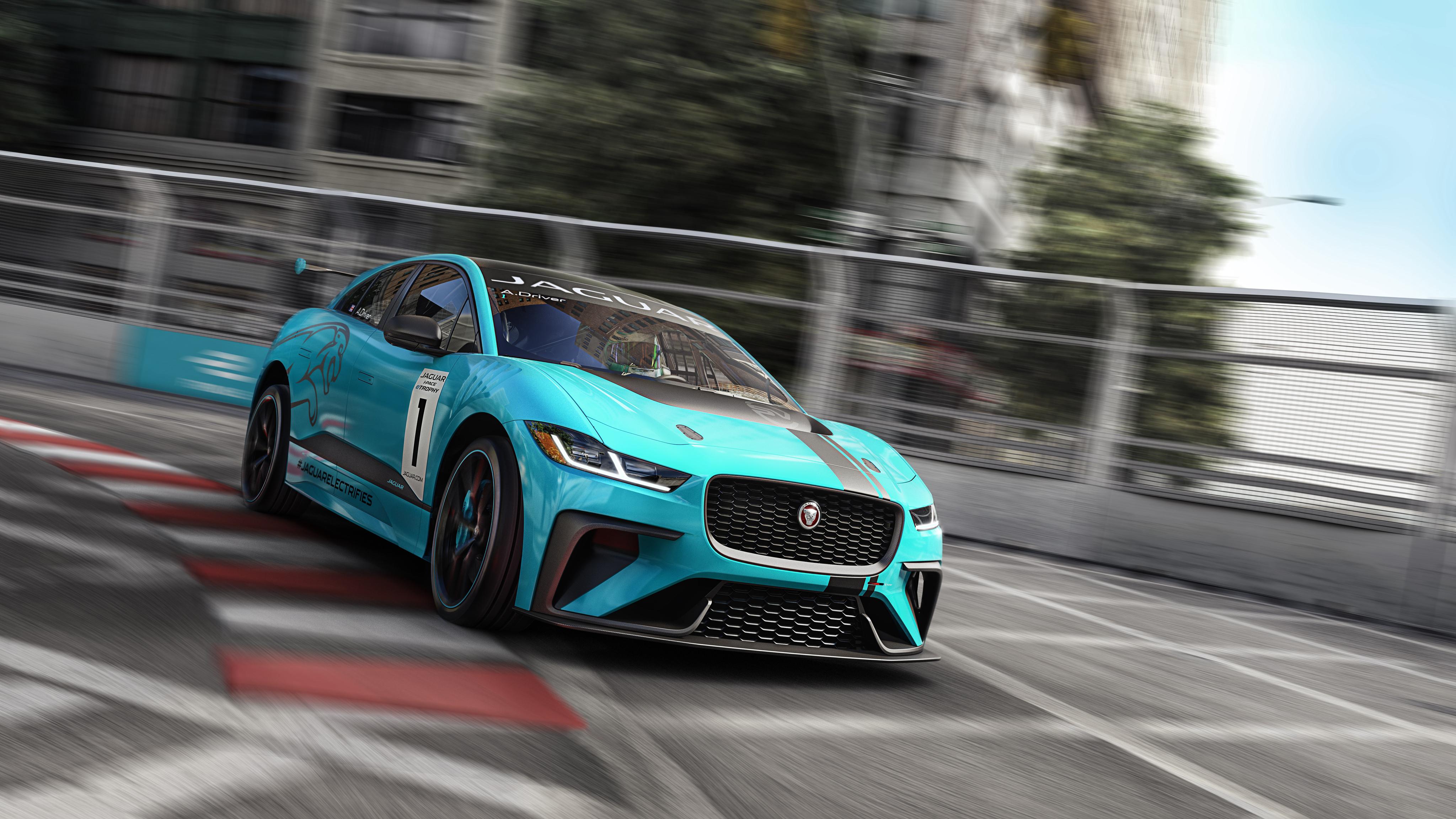 Jaguar I PACE eTROPHY Electric Race Car 4K Wallpaper   HD ...