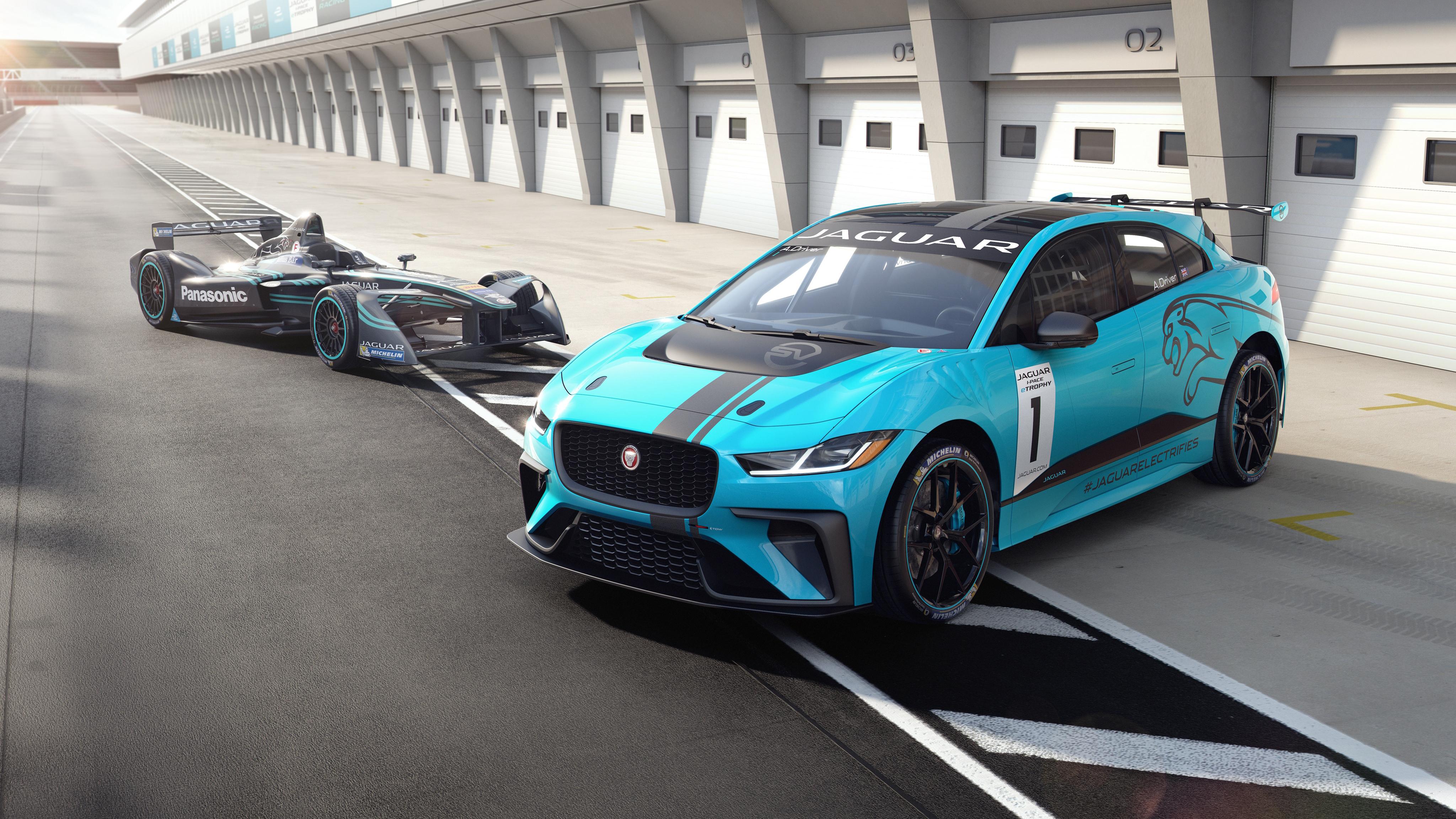 Jaguar I PACE eTROPHY Electric Race Car 4K 5 Wallpaper ...