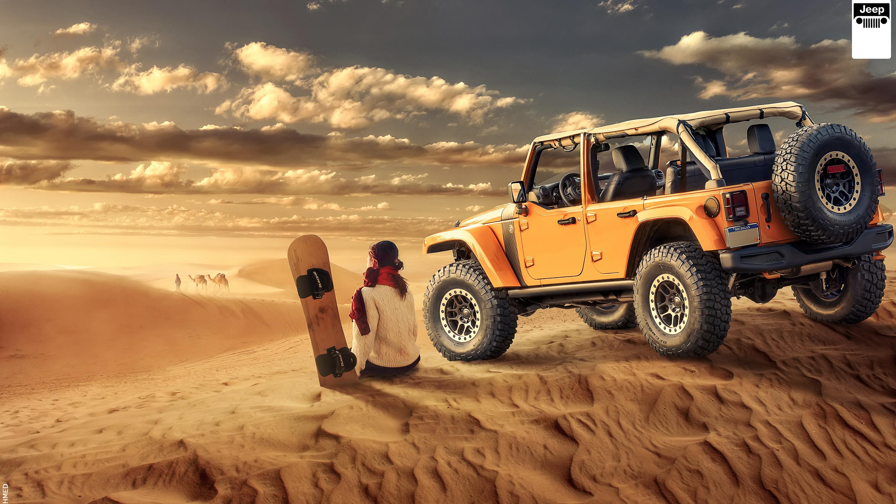 jeep wrangler desert off road HD