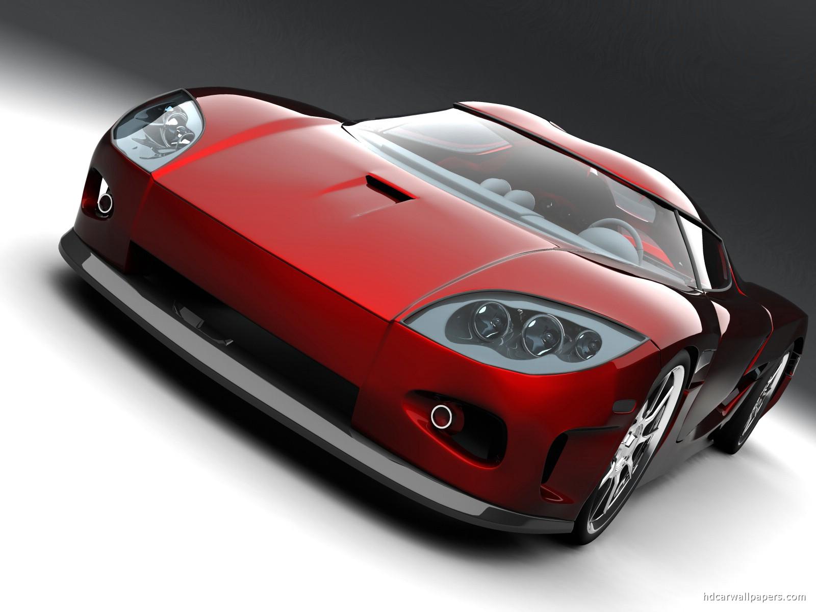 Koenigsegg Red Concept Car Wallpaper