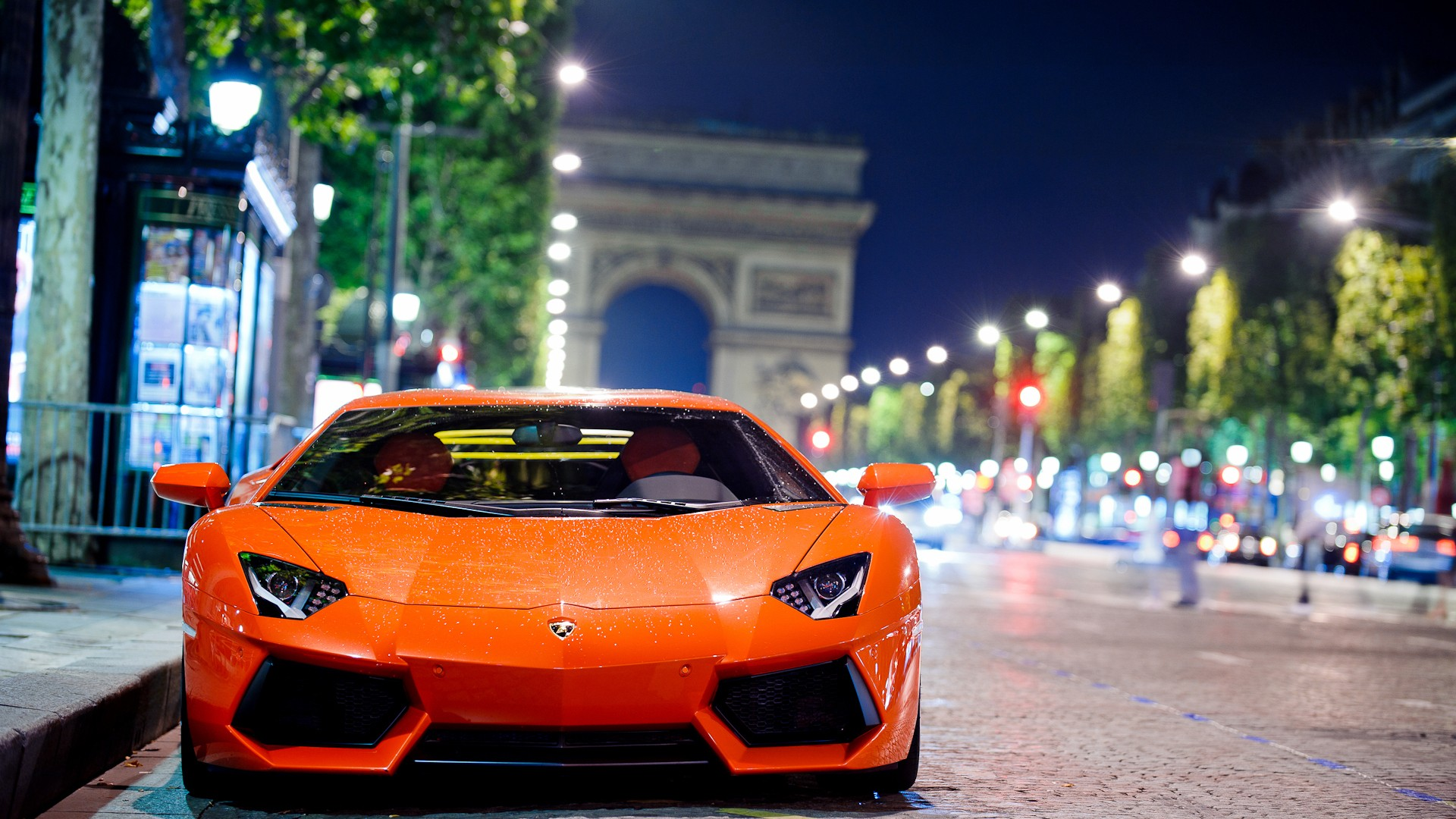 Lamborghini Aventador At Night Wallpaper Hd Car Wallpapers Id 3332
