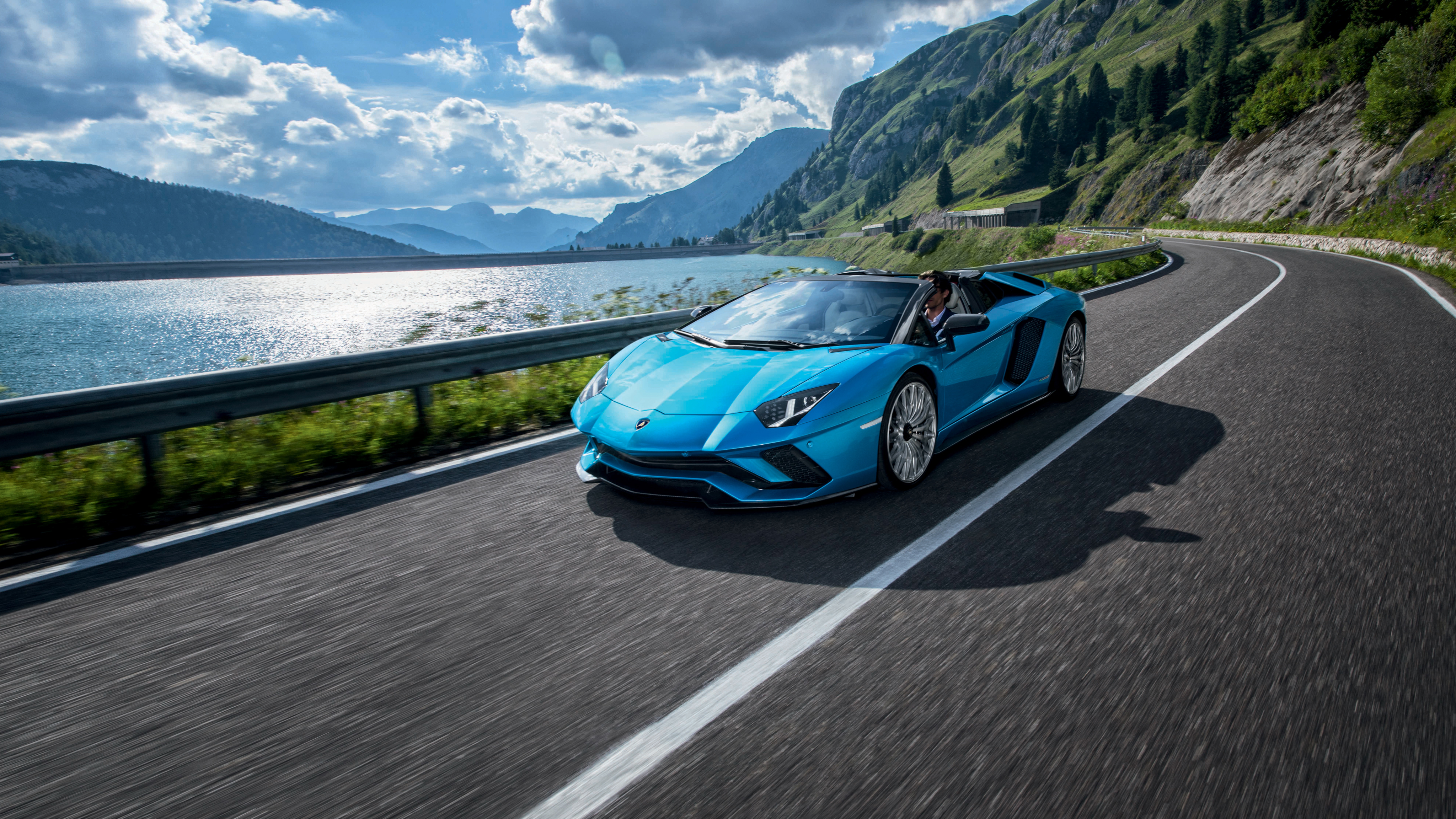Lamborghini Aventador Green 4k Hd Cars 4k Wallpapers: Lamborghini Aventador S Roadster 4K 2018 Wallpaper