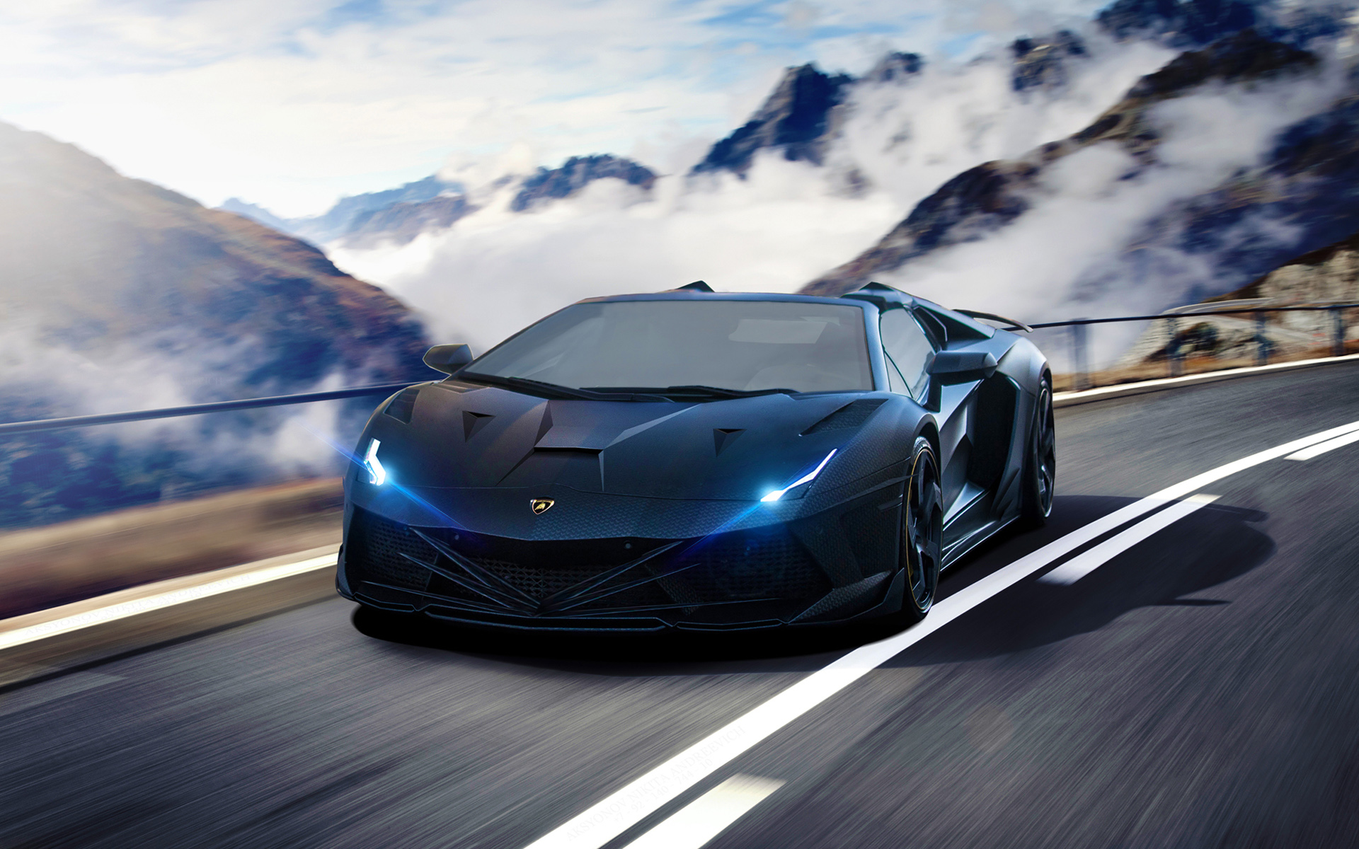 Blue Supercar Hd Wallpaper