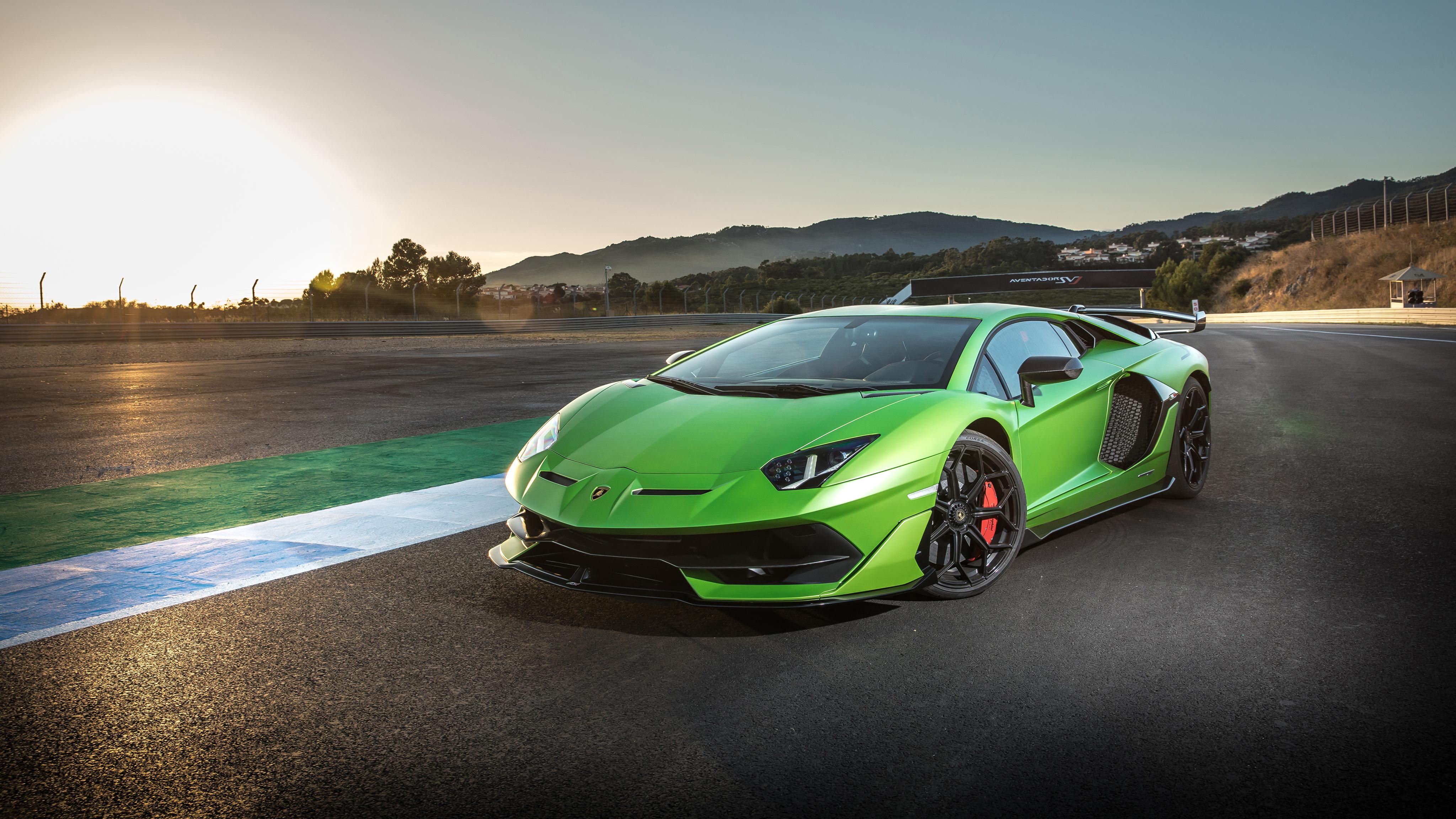 Lamborghini Aventador Green 4k Hd Cars 4k Wallpapers: Lamborghini Aventador SVJ 2018 4K 3 Wallpaper