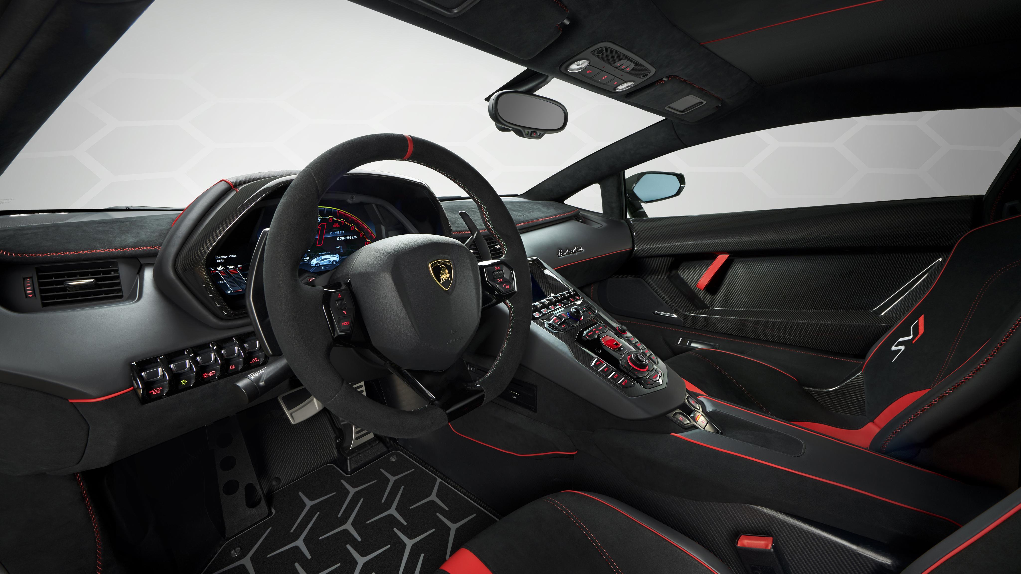 Lamborghini aventador svj interior wallpaper hd car - Lamborghini aventador interior wallpaper ...