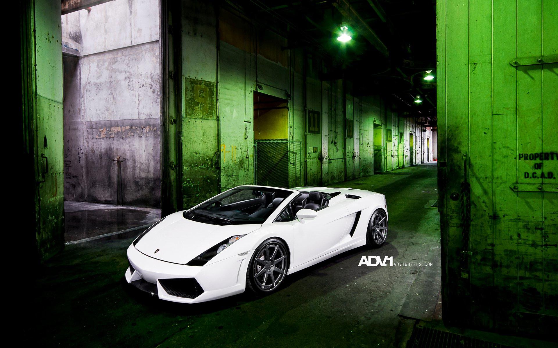 Adv1 Aventador Lamborghini Miami Wallpapers: Lamborghini Gallardo ADV1 Wheels Wallpaper