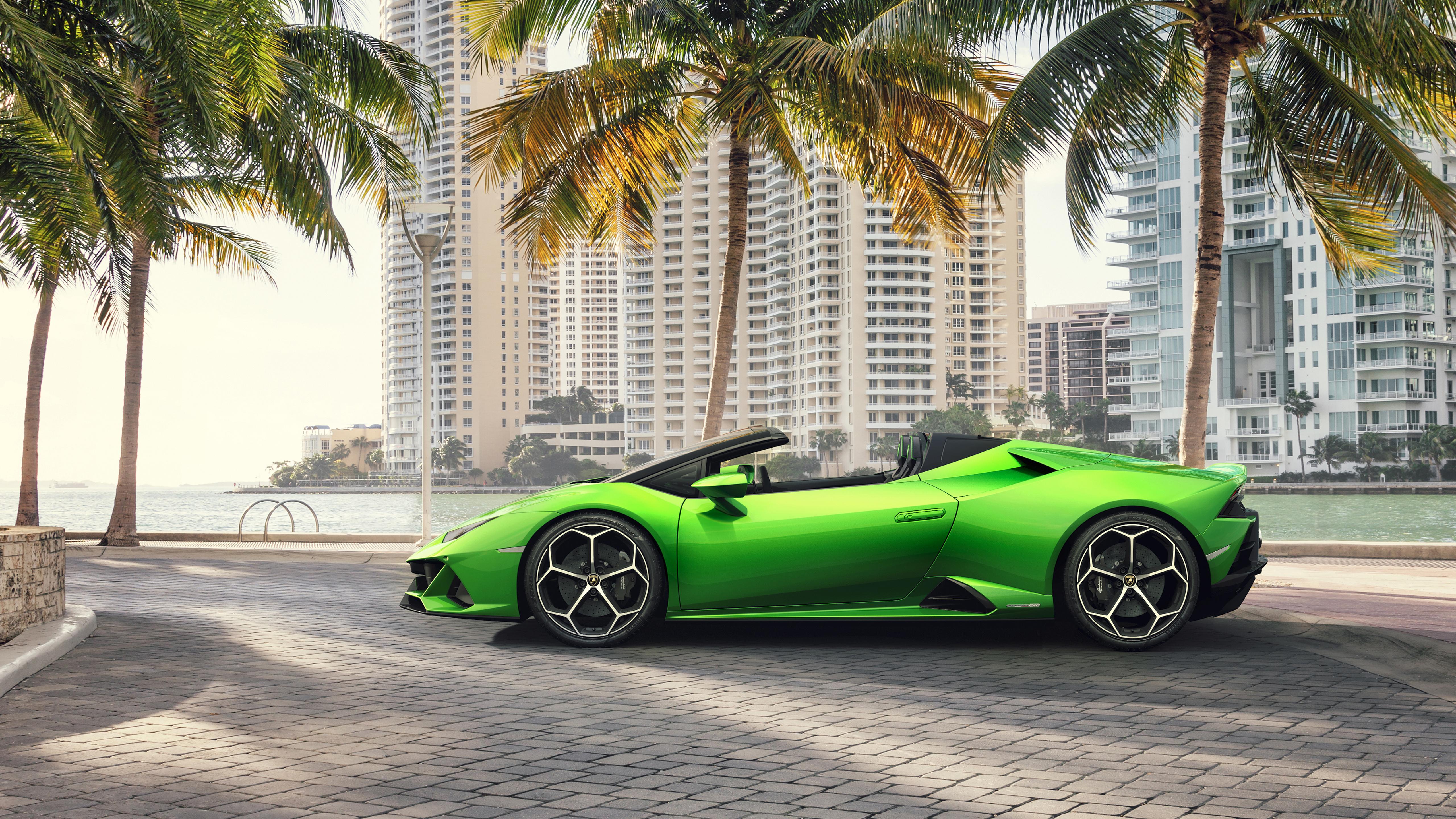 Lamborghini Huracan EVO Spyder 2019 5K 2 Wallpaper